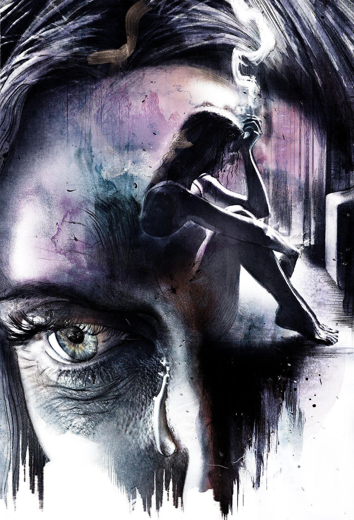 Shadow mind editorial illustration dark - Kornel Illustration | Kornel Stadler portfolio