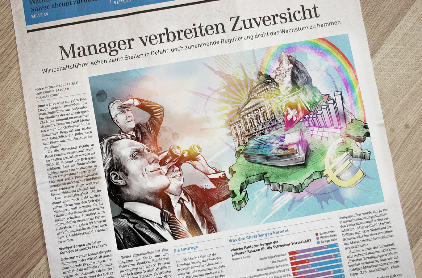 Sonntagszeitung manager - Kornel Illustration | Kornel Stadler portfolio