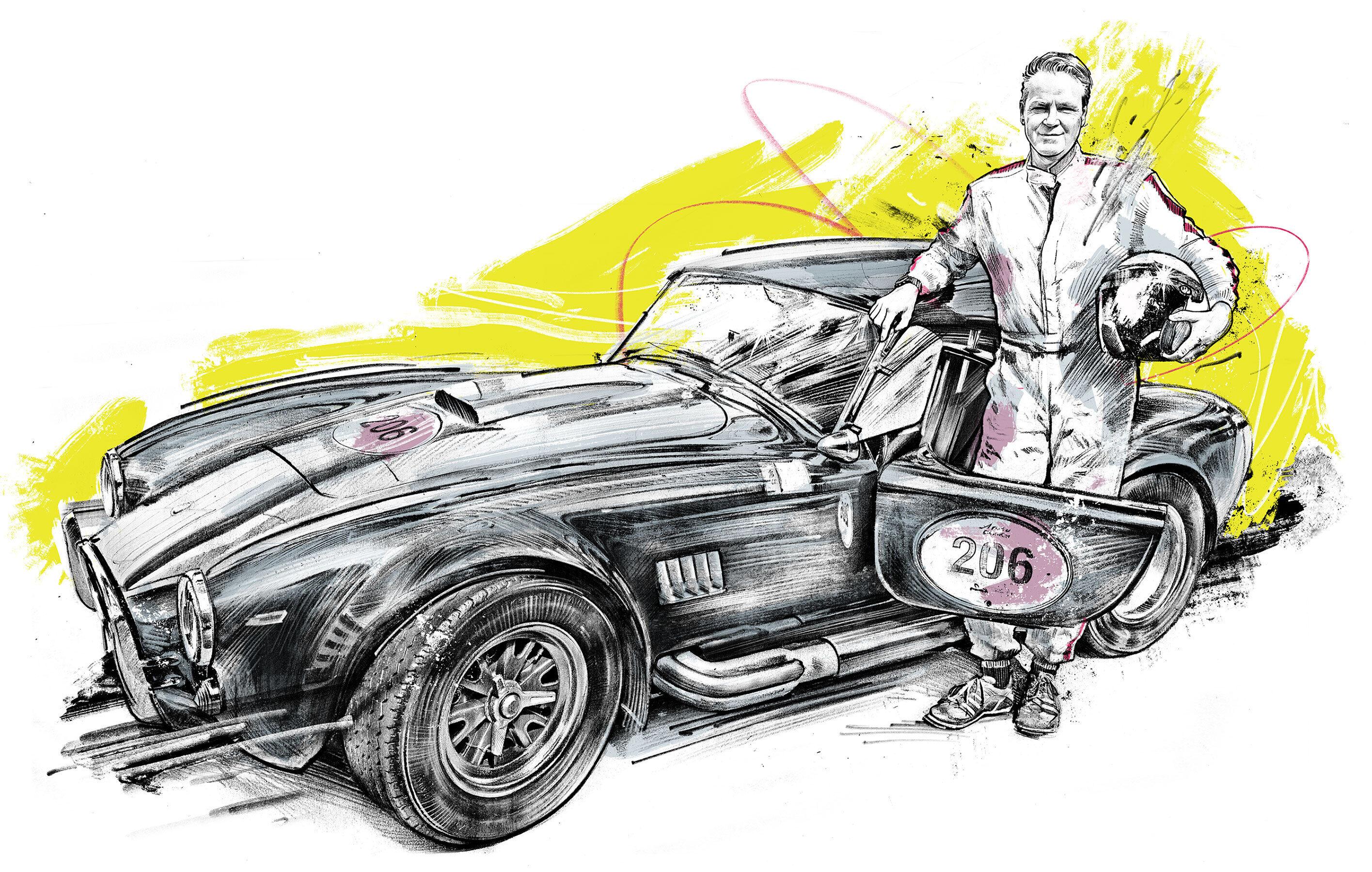 Shelby Cobra - Kornel Illustration | Kornel Stadler portfolio