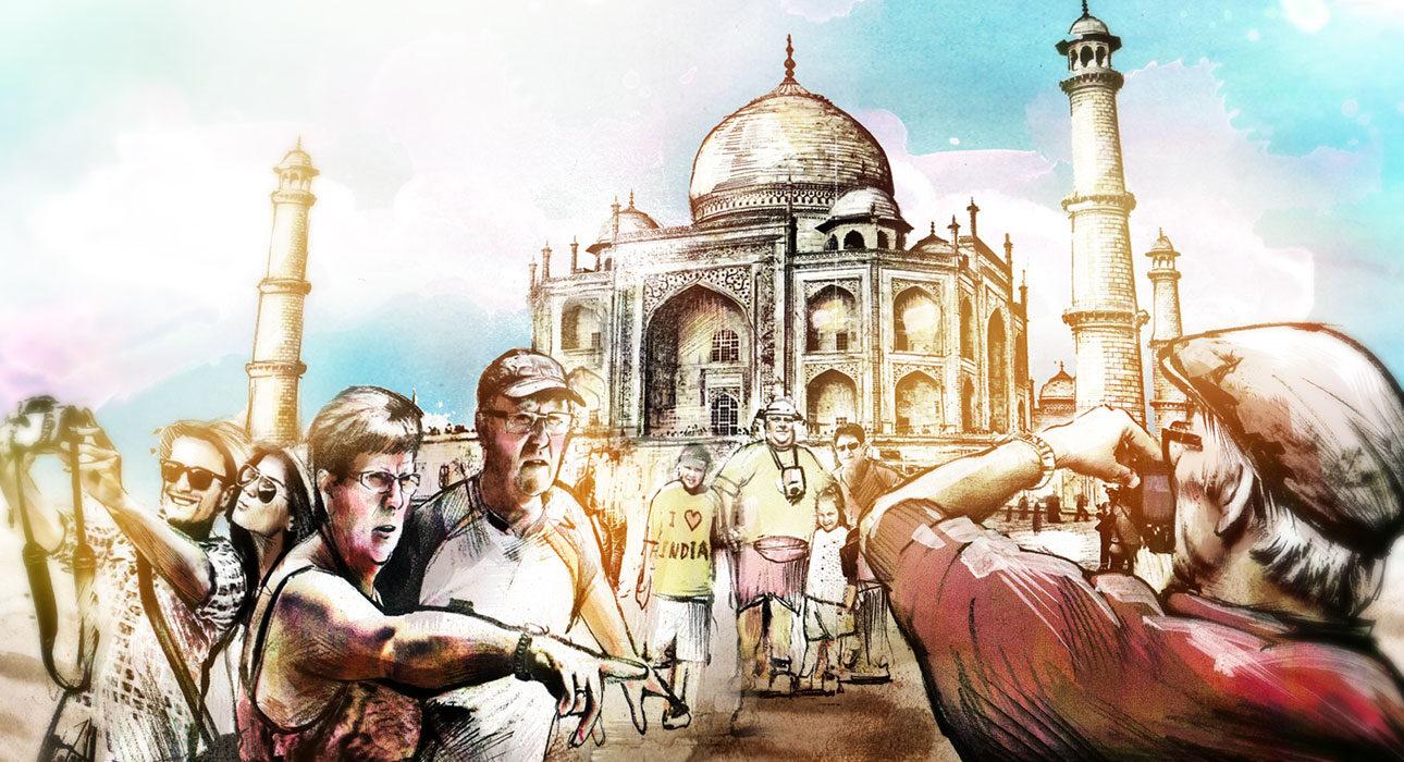 Taj Mahal web - Kornel Illustration | Kornel Stadler portfolio