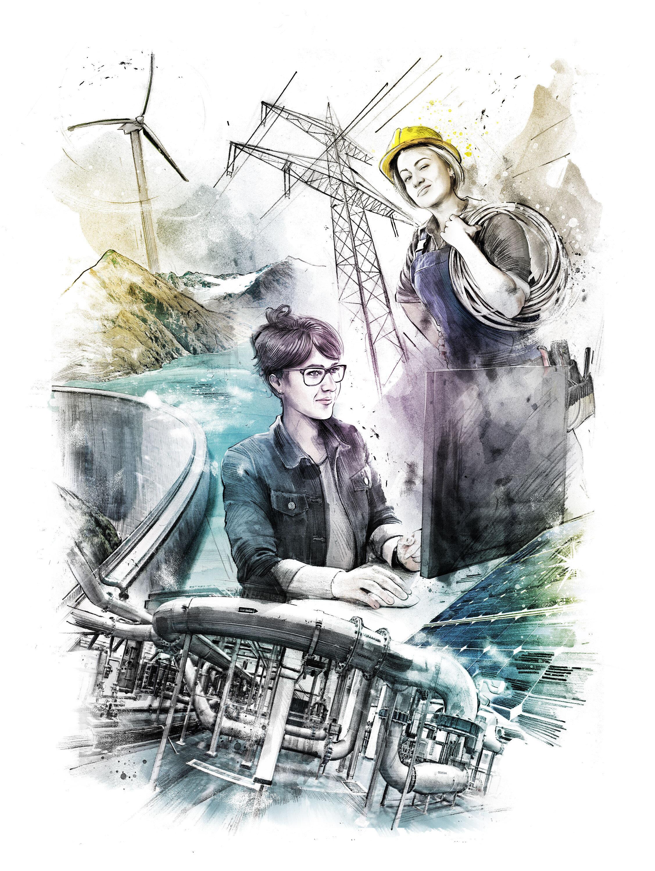Woman enrgy - Kornel Illustration | Kornel Stadler portfolio