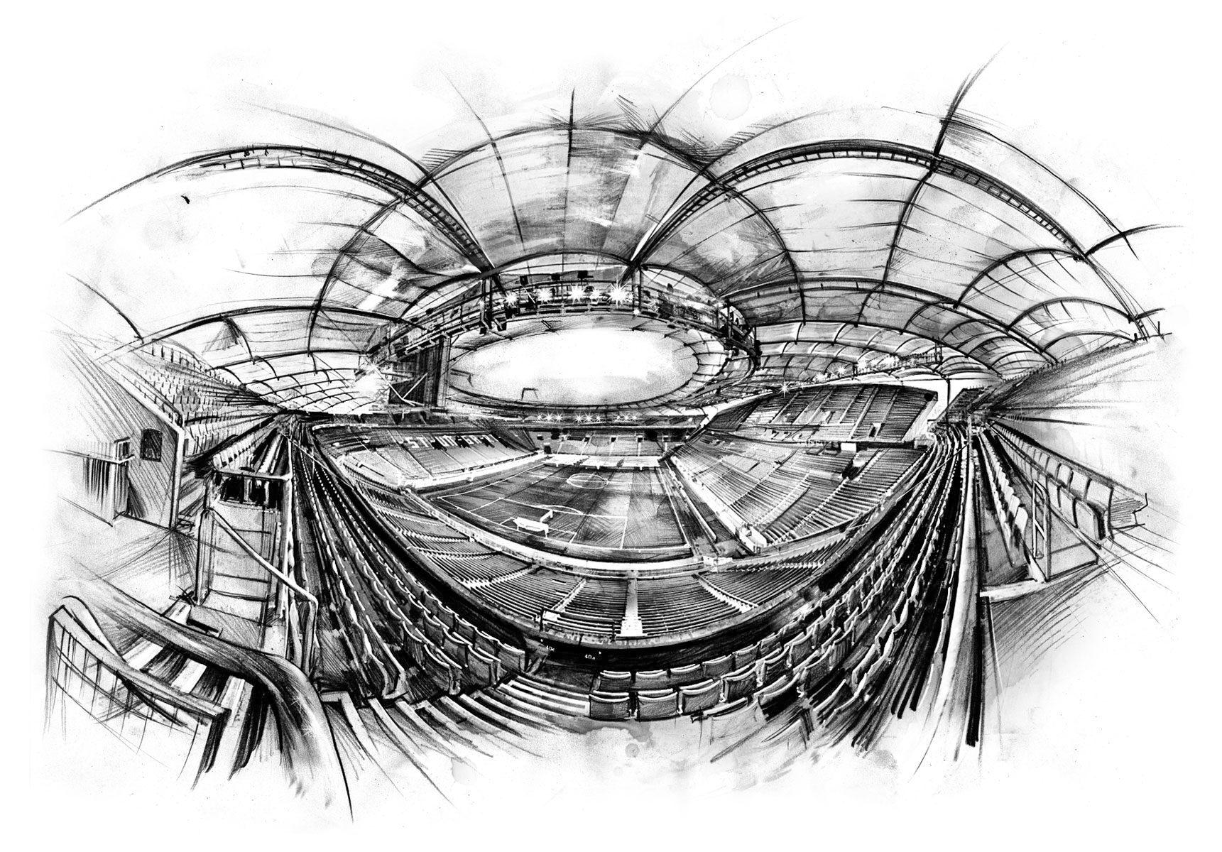 Mercedes Benz Arena 11 - Kornel Illustration | Kornel Stadler portfolio