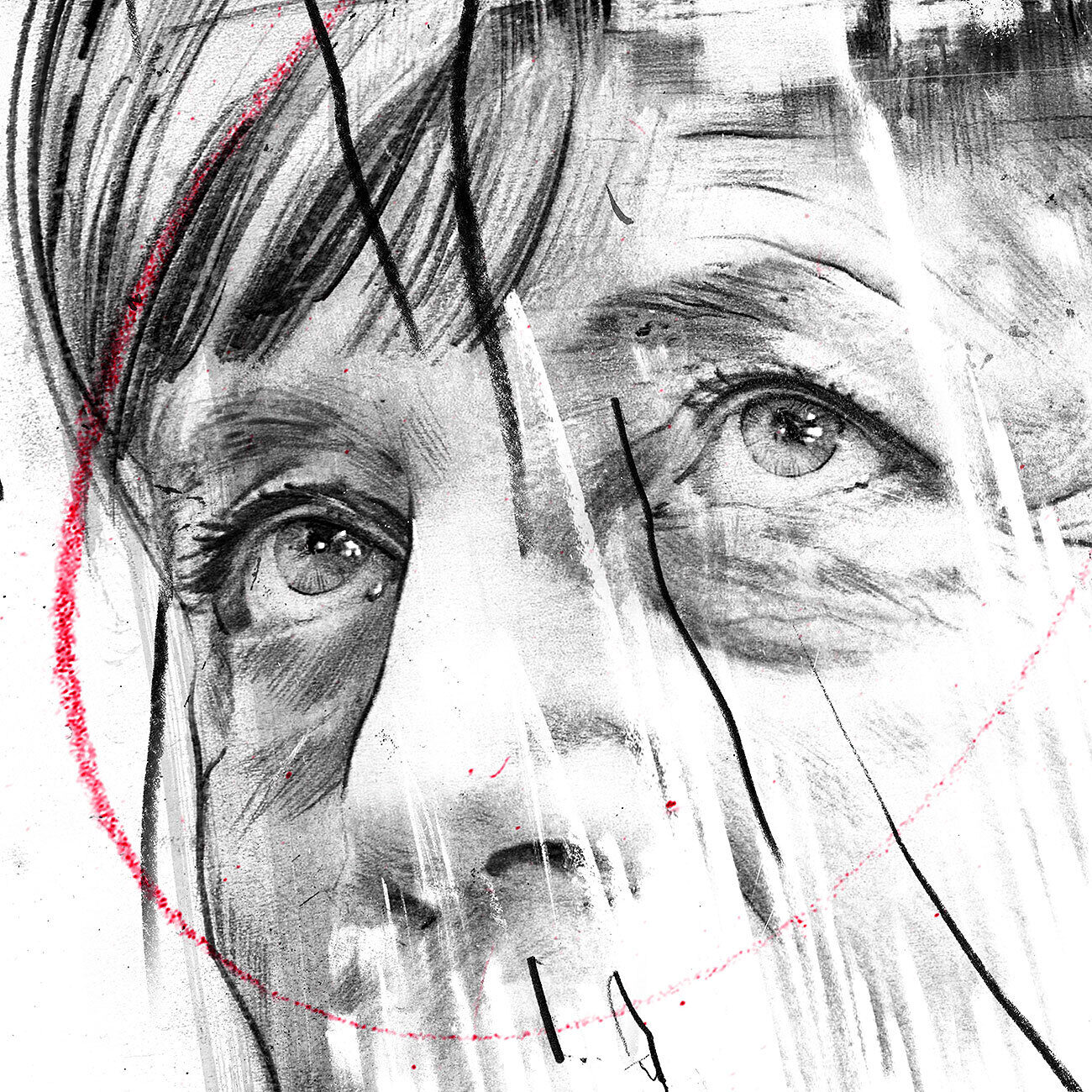 Merkel augen - Kornel Illustration | Kornel Stadler portfolio