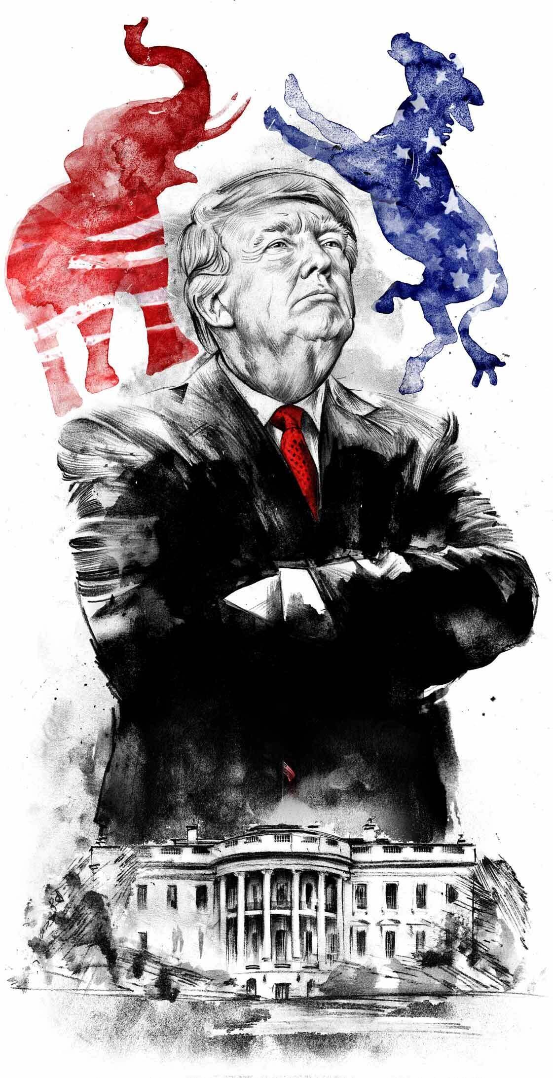 Donald Trump Illustration election - Kornel Illustration | Kornel Stadler portfolio