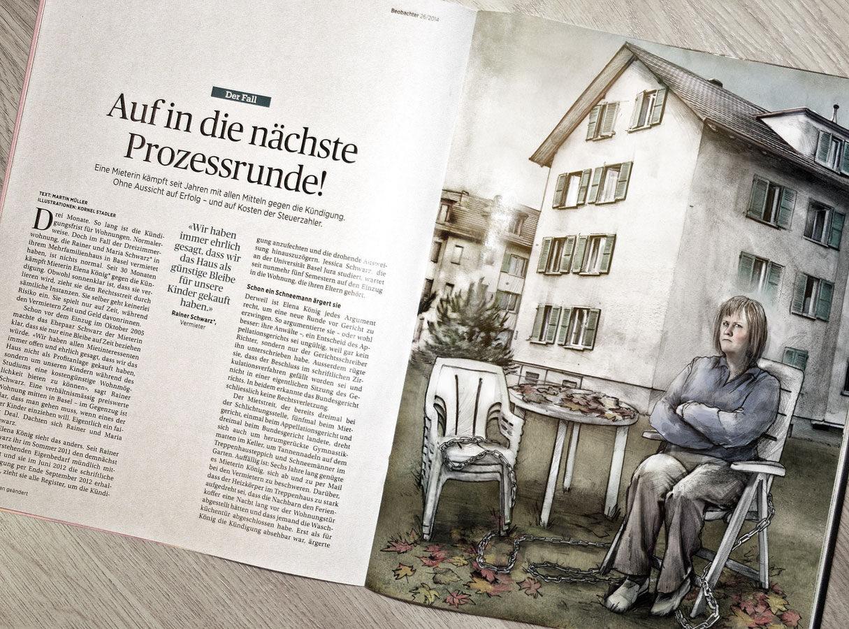 Der Fall - Kornel Illustration | Kornel Stadler portfolio