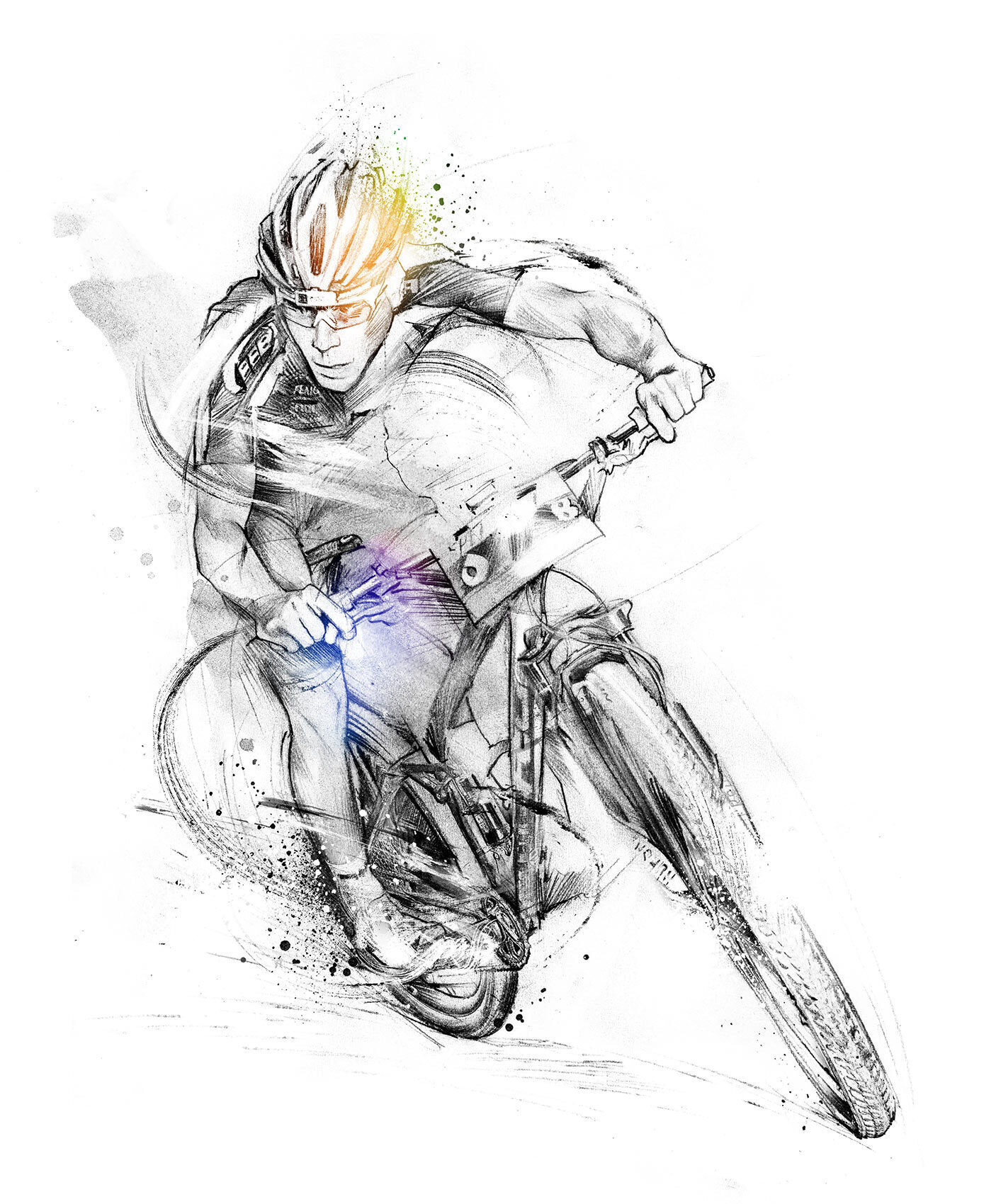 Mountainbike sport illustration - Kornel Illustration | Kornel Stadler portfolio