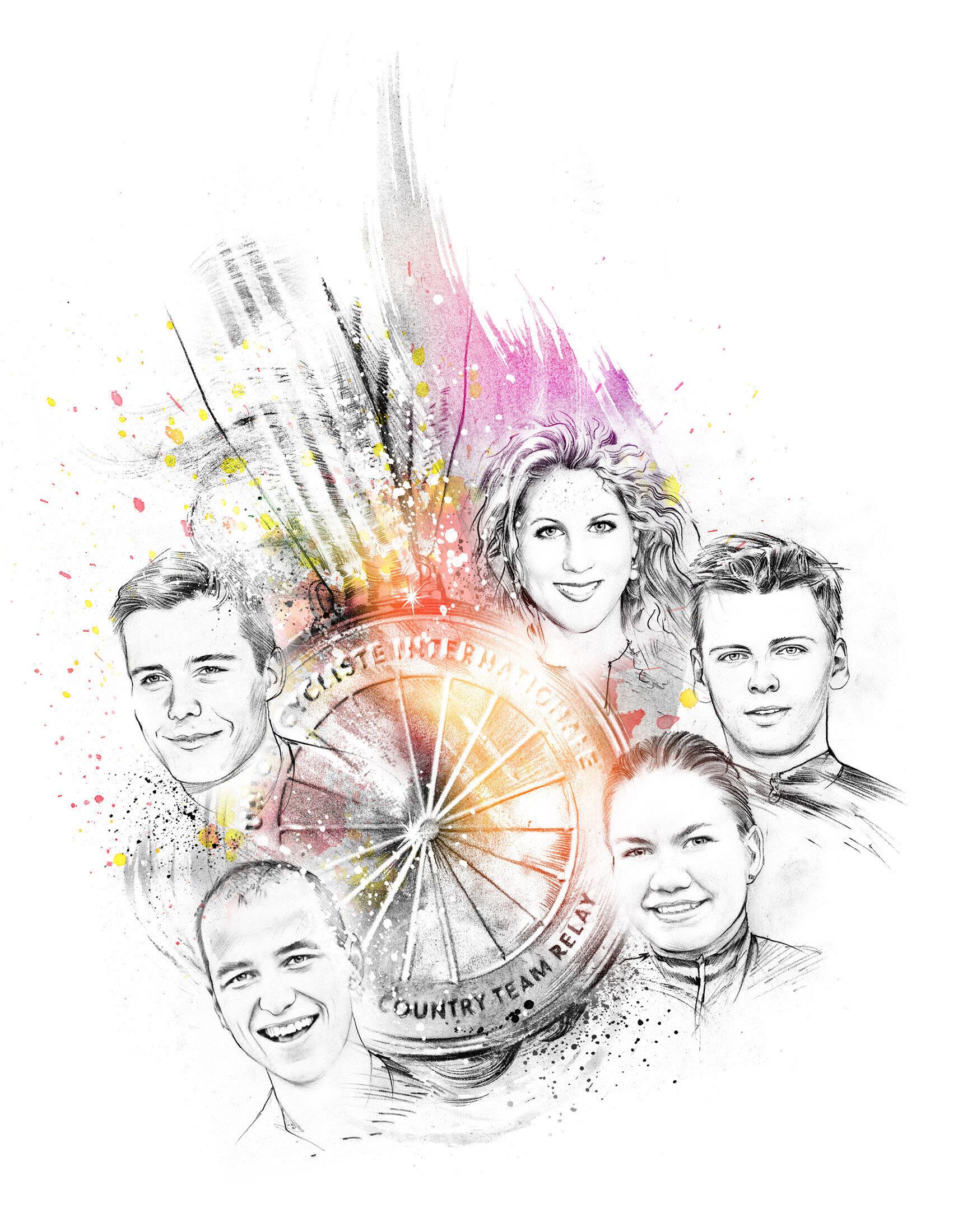 Team Mountainbike illustration artwork - Kornel Illustration   Kornel Stadler portfolio