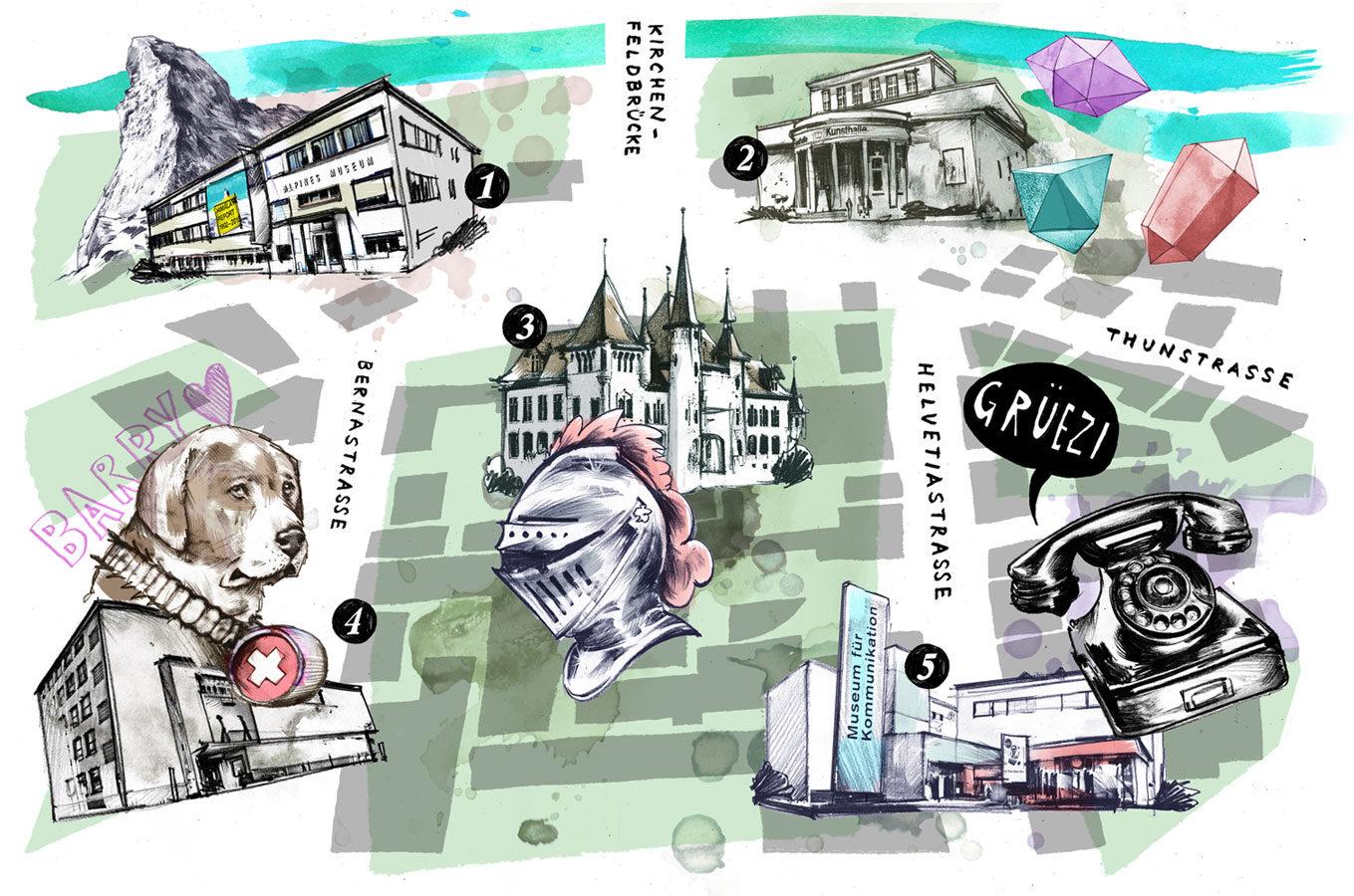 Museums Karte - Kornel Illustration | Kornel Stadler portfolio