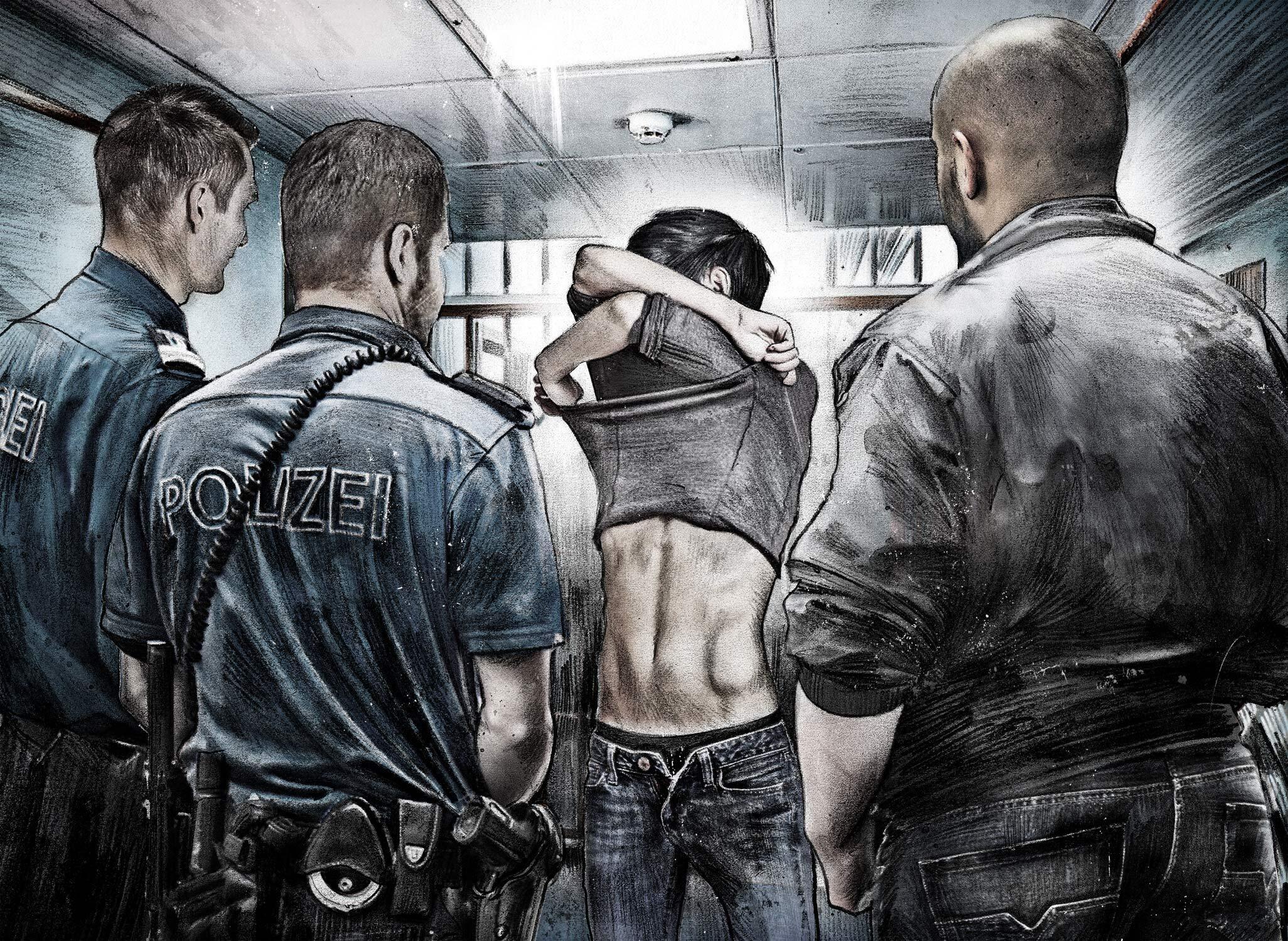 Illustration Polizeiposten Durchsuchung - Kornel Illustration   Kornel Stadler portfolio