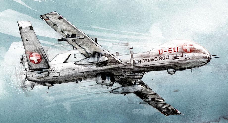 Ueli Drohne - Kornel Illustration   Kornel Stadler portfolio