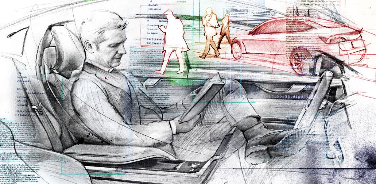 Selbstfahrende autos - Kornel Illustration | Kornel Stadler portfolio