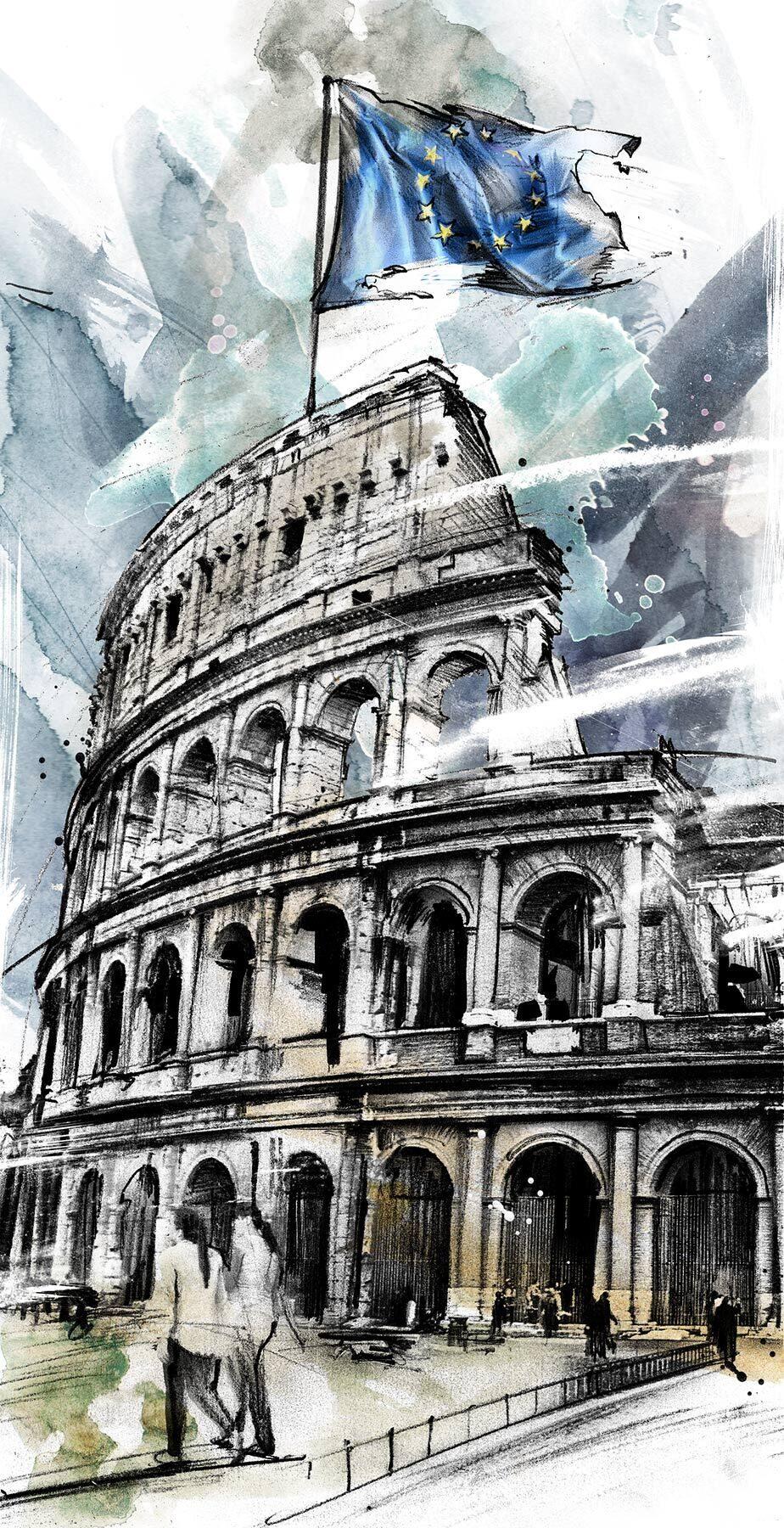 EU illustration kolosseum rom europa - Kornel Illustration | Kornel Stadler portfolio