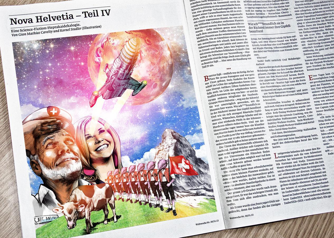 Weltwoche Nova Helvetia Magazin Foto gross - Kornel Illustration | Kornel Stadler portfolio