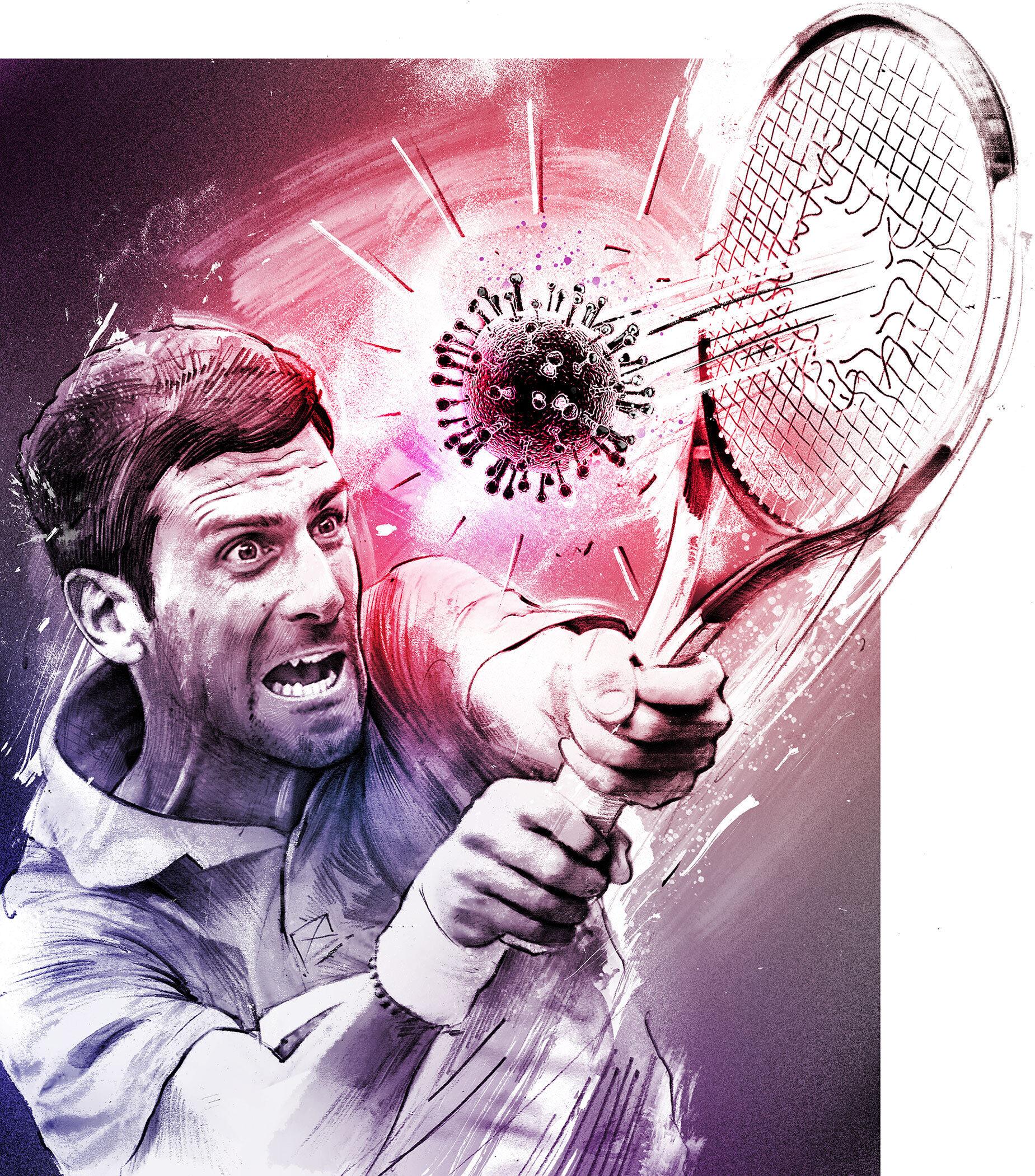 Djokovic - Kornel Illustration | Kornel Stadler portfolio