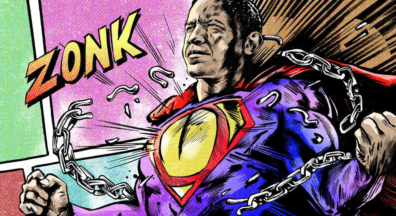 Superman obama - Kornel Illustration | Kornel Stadler portfolio