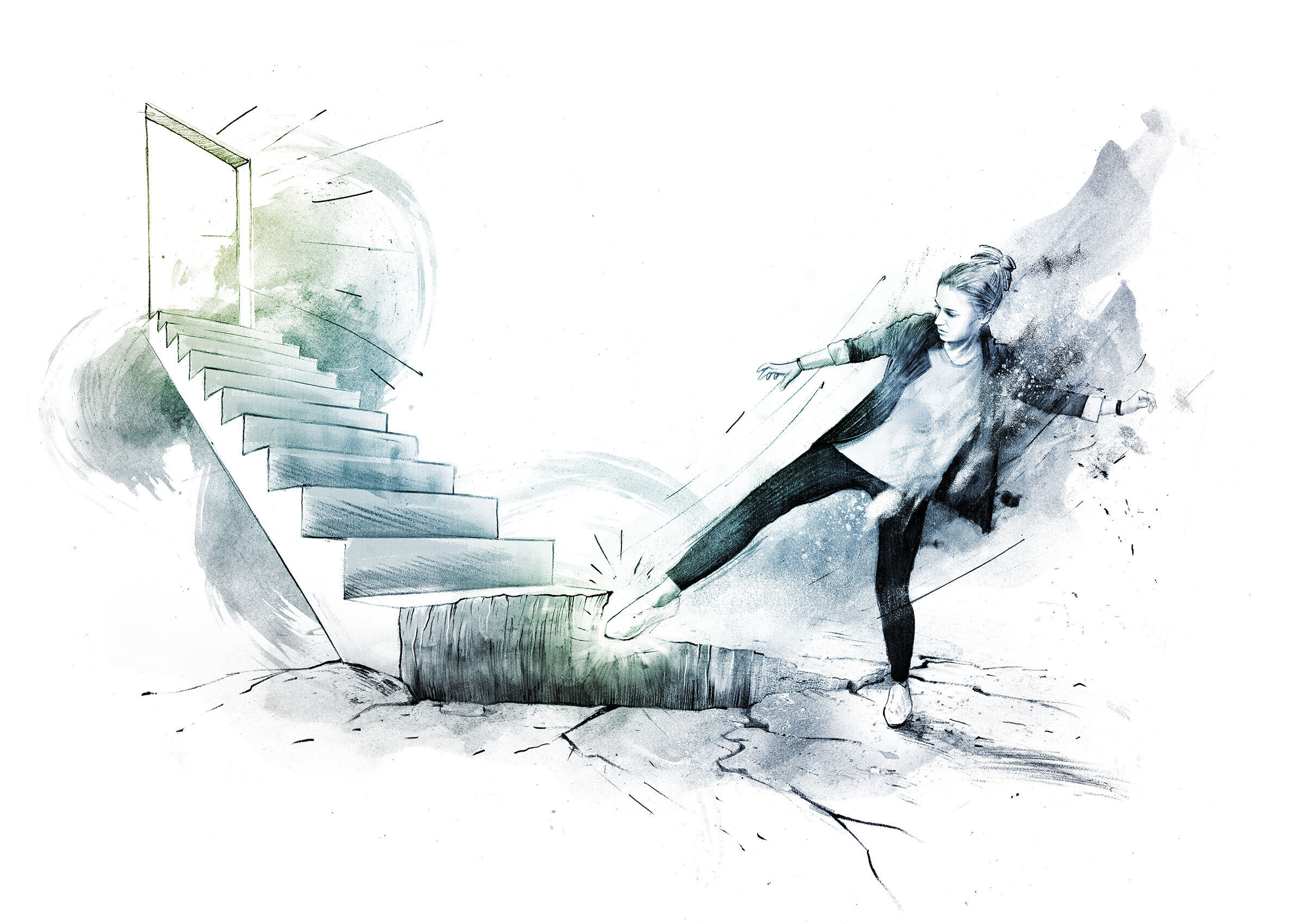 Einstieg Karriereleiter - Kornel Illustration | Kornel Stadler portfolio