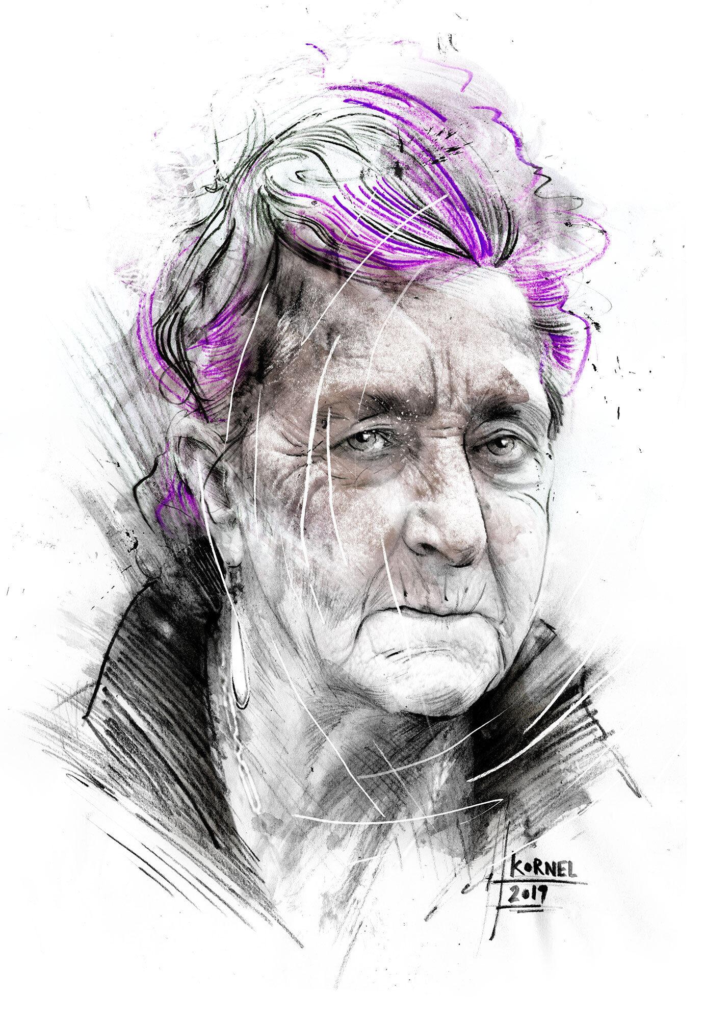 Purple hair - Kornel Illustration | Kornel Stadler portfolio