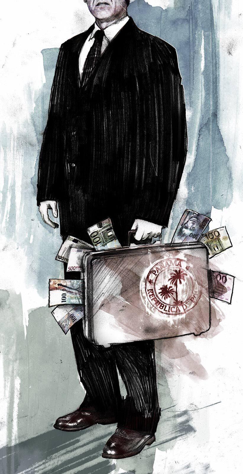 Panama Papers editorial illustration - Kornel Illustration   Kornel Stadler portfolio
