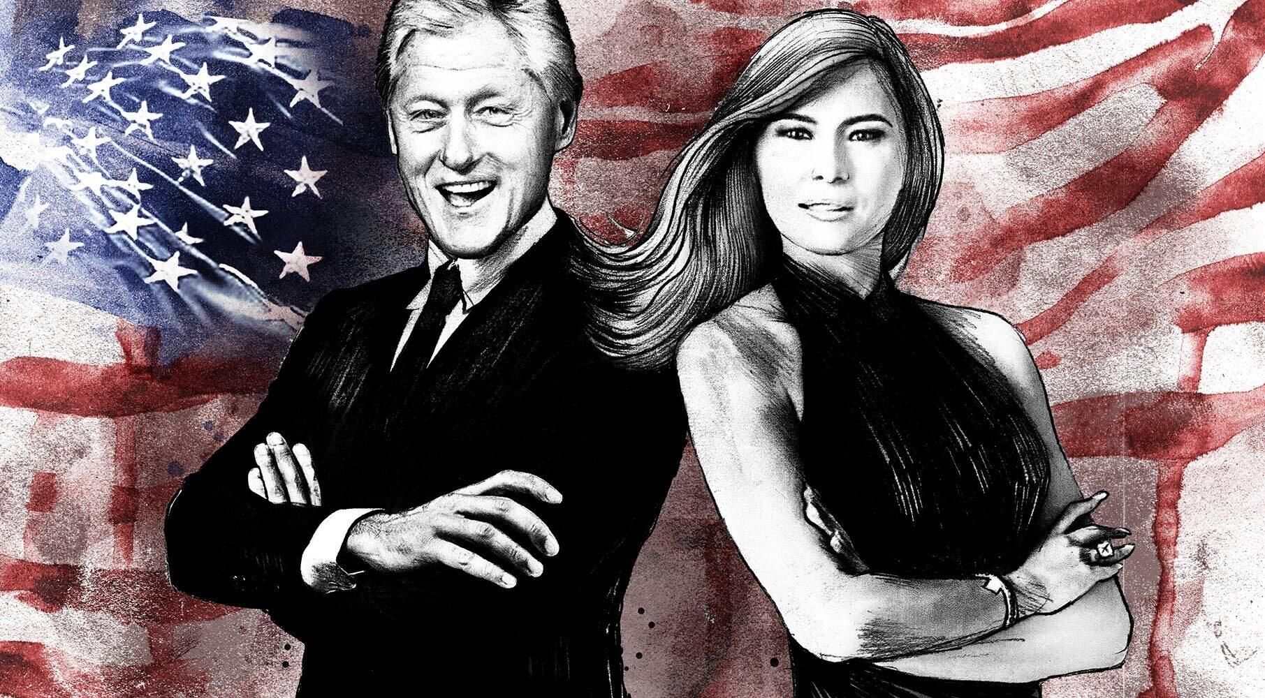 Melania Trump Bill Clinton portrait illustration usa partner - Kornel Illustration | Kornel Stadler portfolio