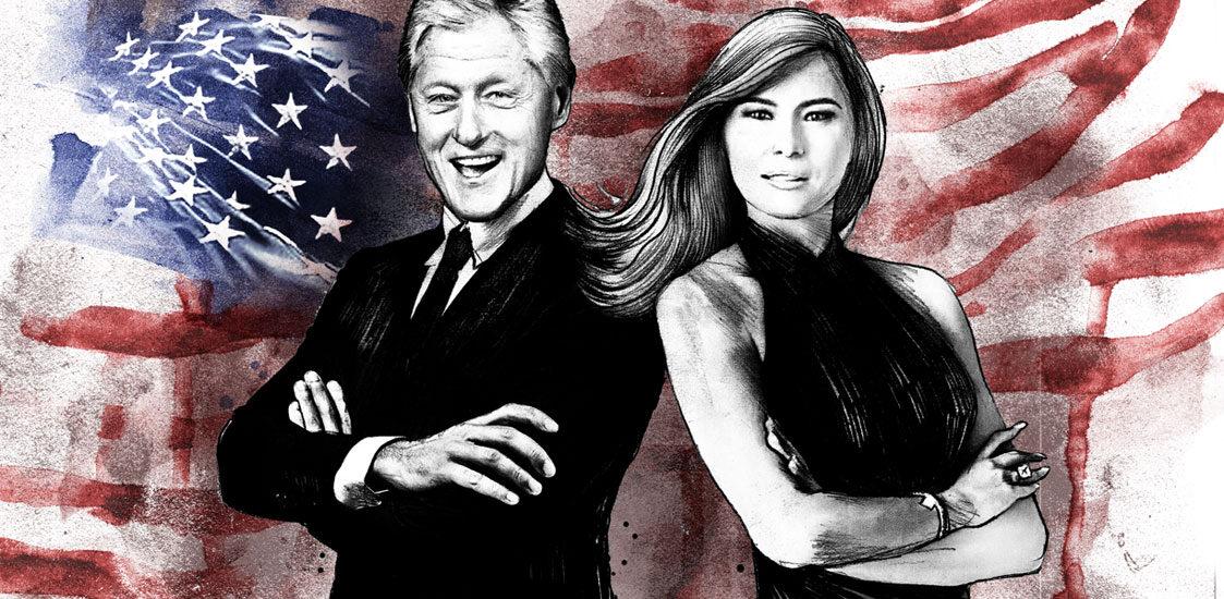 Trump vs Clinton - Kornel Illustration | Kornel Stadler portfolio