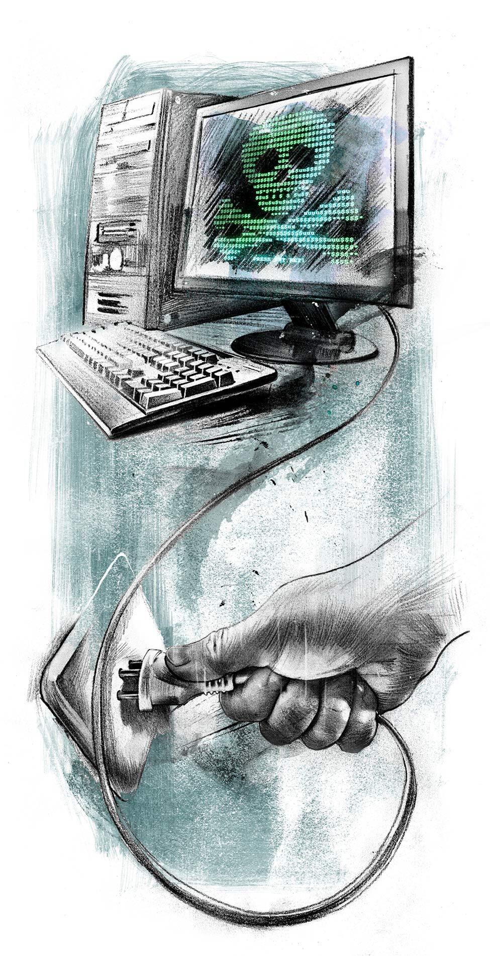 Petya Virus Illustration hacker - Kornel Illustration | Kornel Stadler portfolio