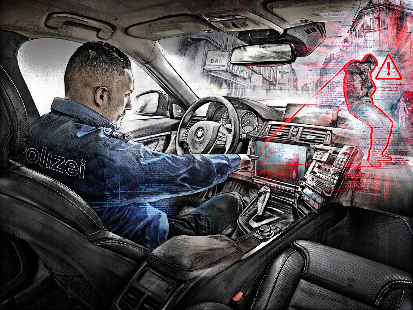 Predictive Policing - Kornel Illustration | Kornel Stadler portfolio