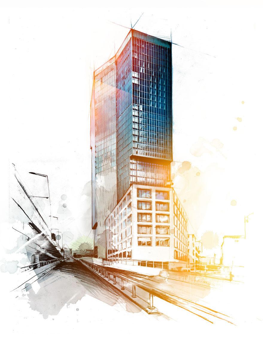 Prime tower farbe eine ebene - Kornel Illustration | Kornel Stadler portfolio