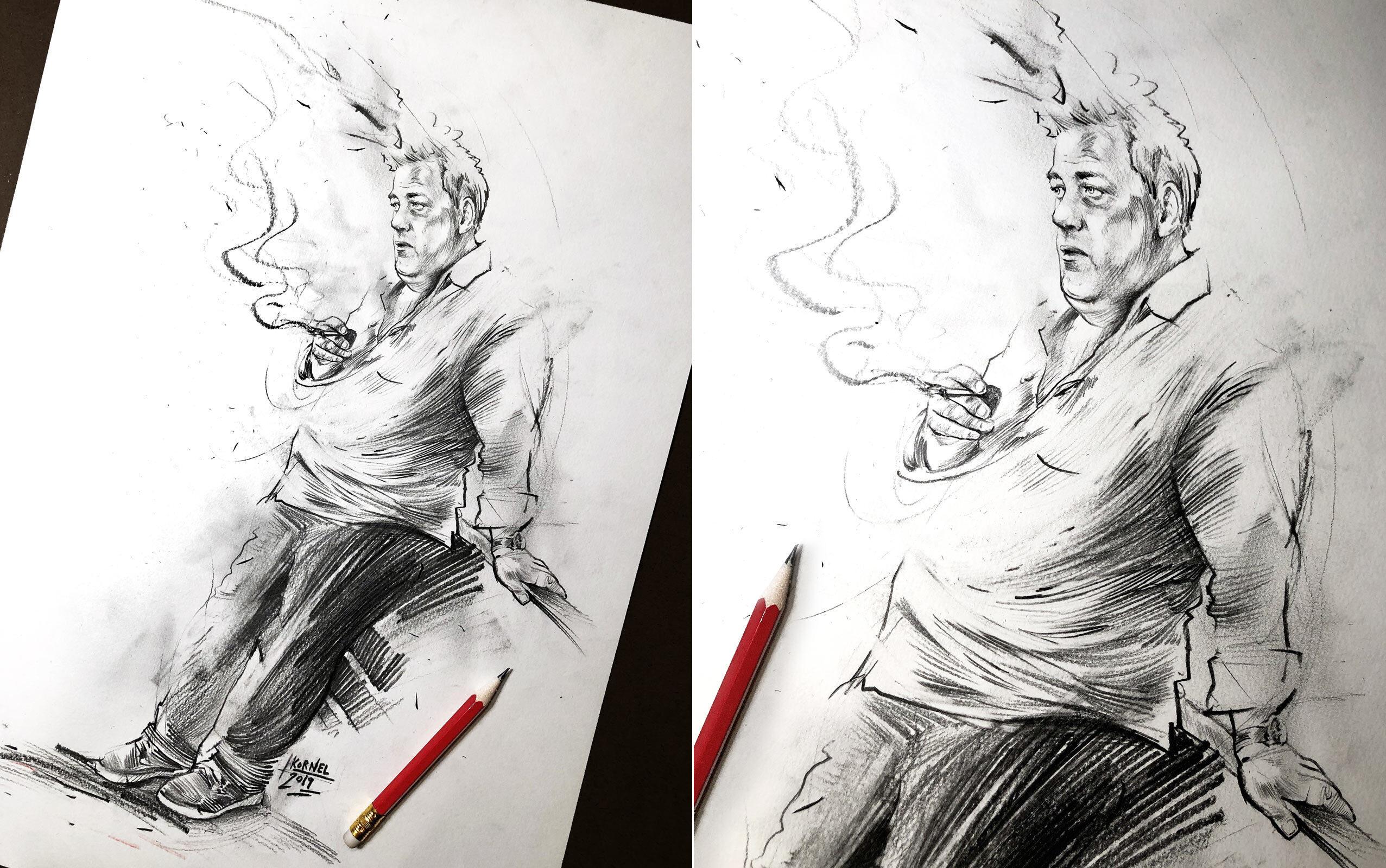 Pencil sketch drawing - Kornel Illustration | Kornel Stadler portfolio