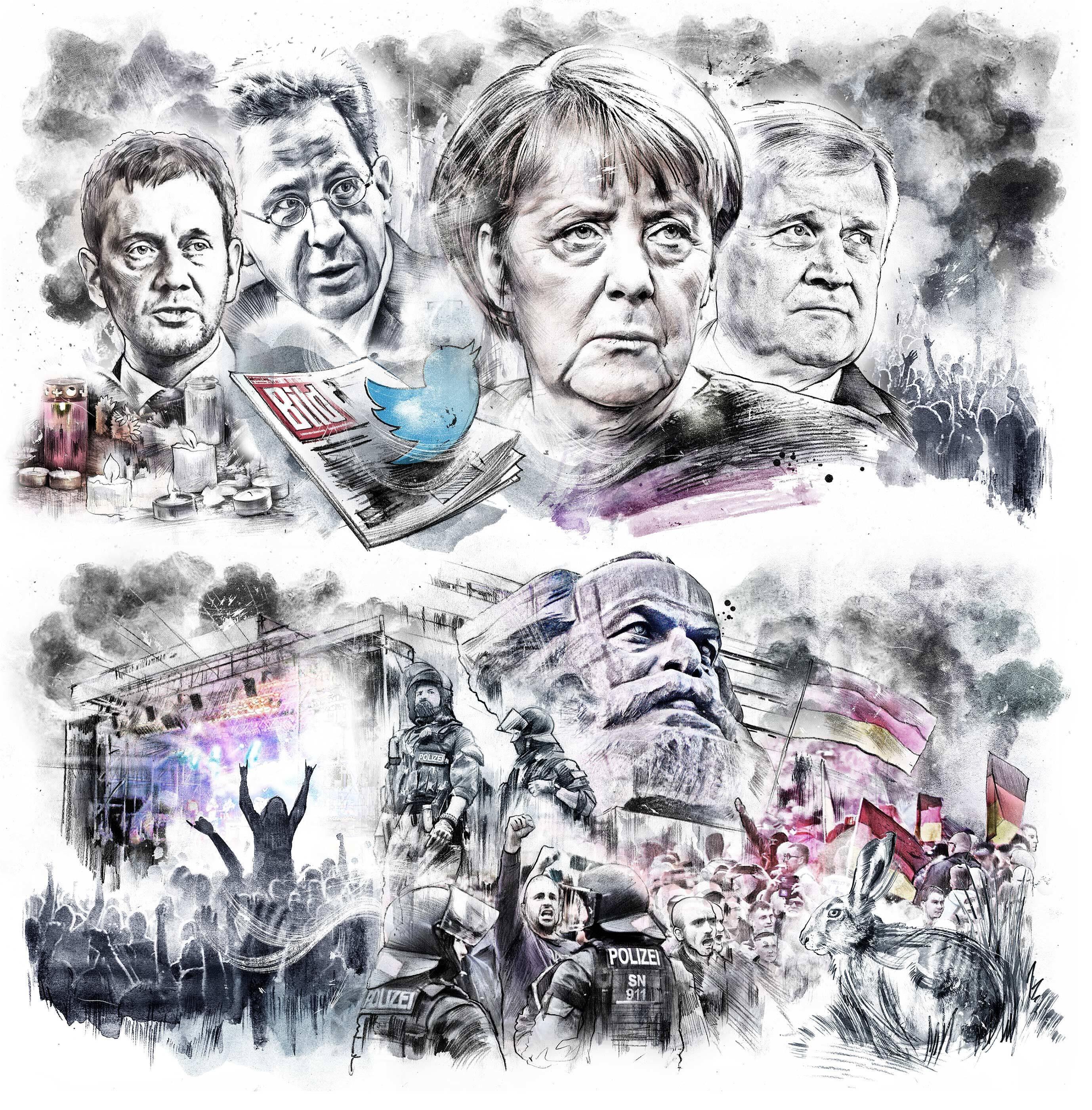 Editorial Illustration die Zeit Chemnitz - Kornel Illustration | Kornel Stadler portfolio