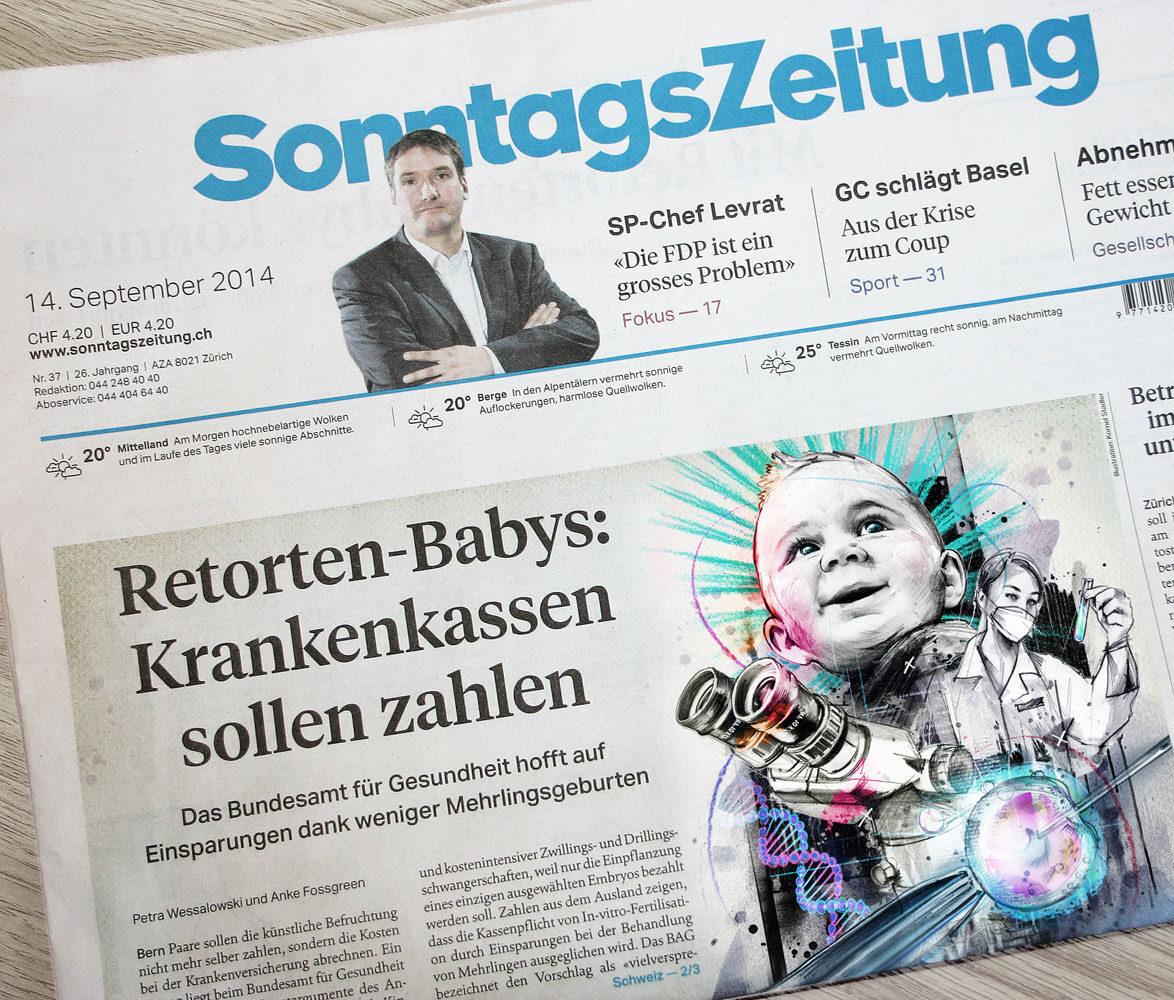 Cover Sonntags Zeitung - Kornel Illustration | Kornel Stadler portfolio