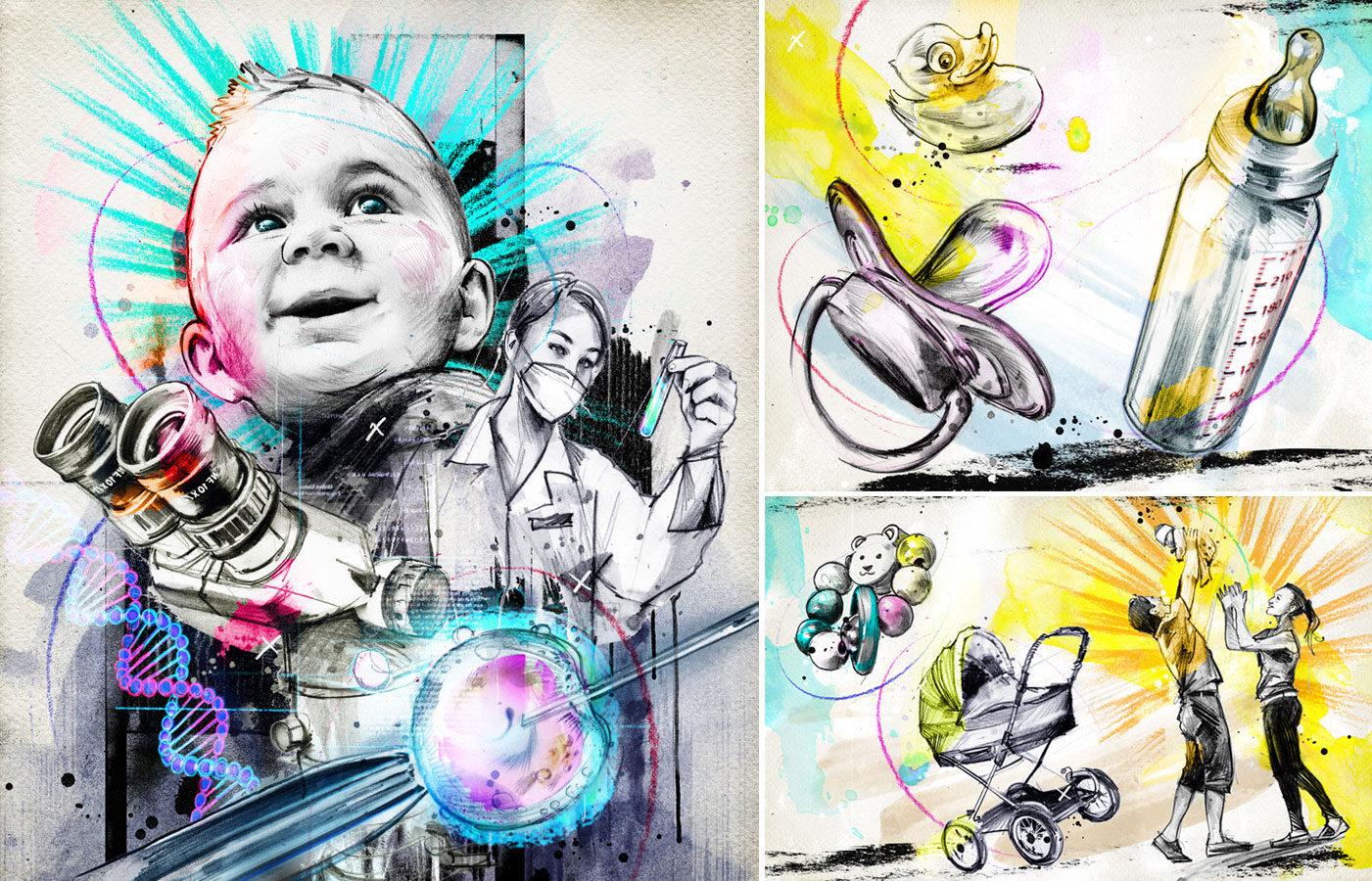 Retorten Babys - Kornel Illustration | Kornel Stadler portfolio
