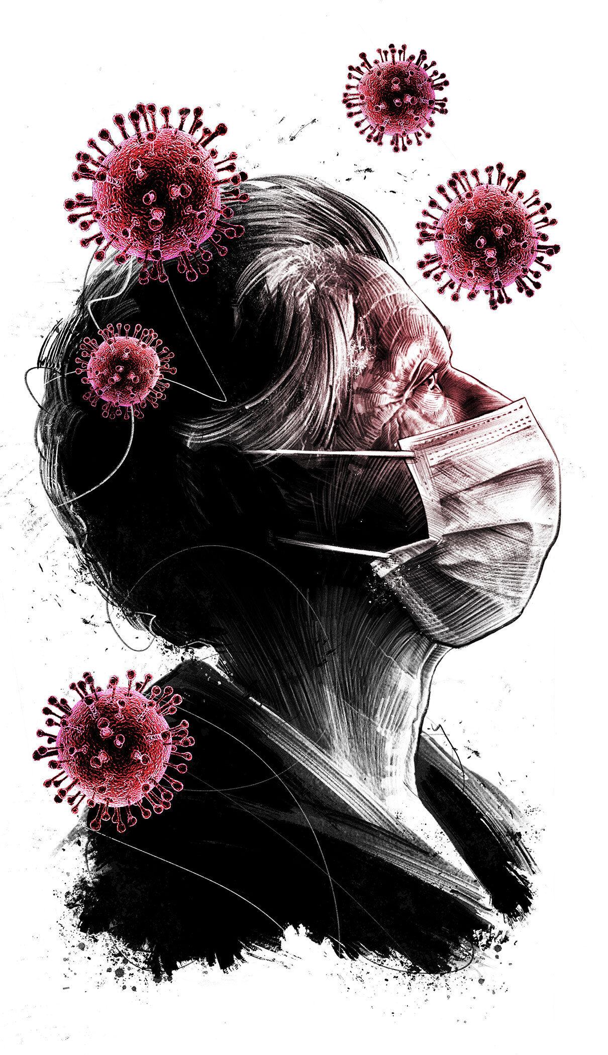 Risk group editorial illustration - Kornel Illustration | Kornel Stadler portfolio