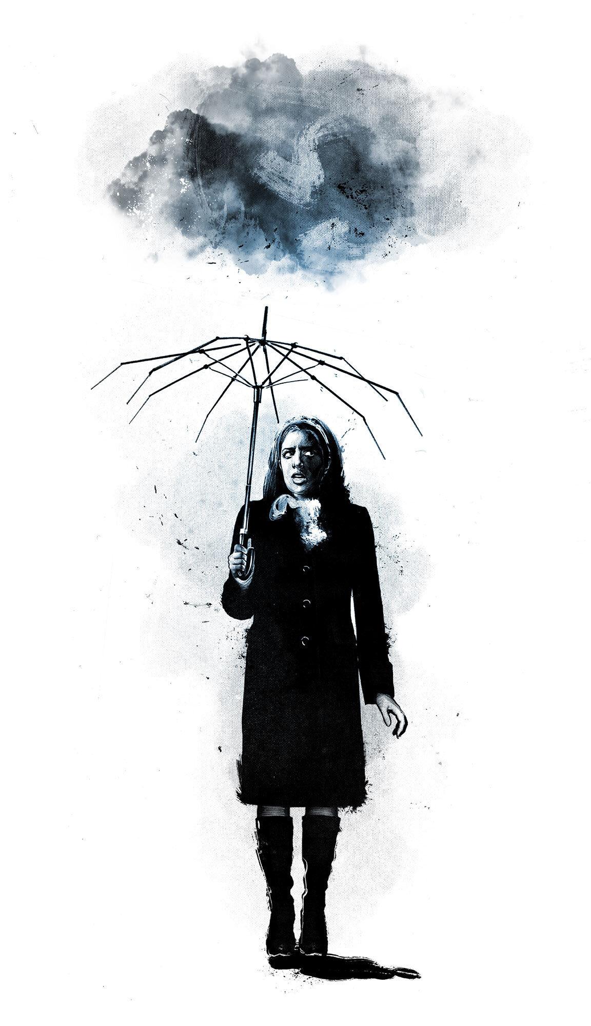 Editorial illustration schirm umbrella risk prevention risikovorsorge krisenmanagement - Kornel Illustration | Kornel Stadler portfolio