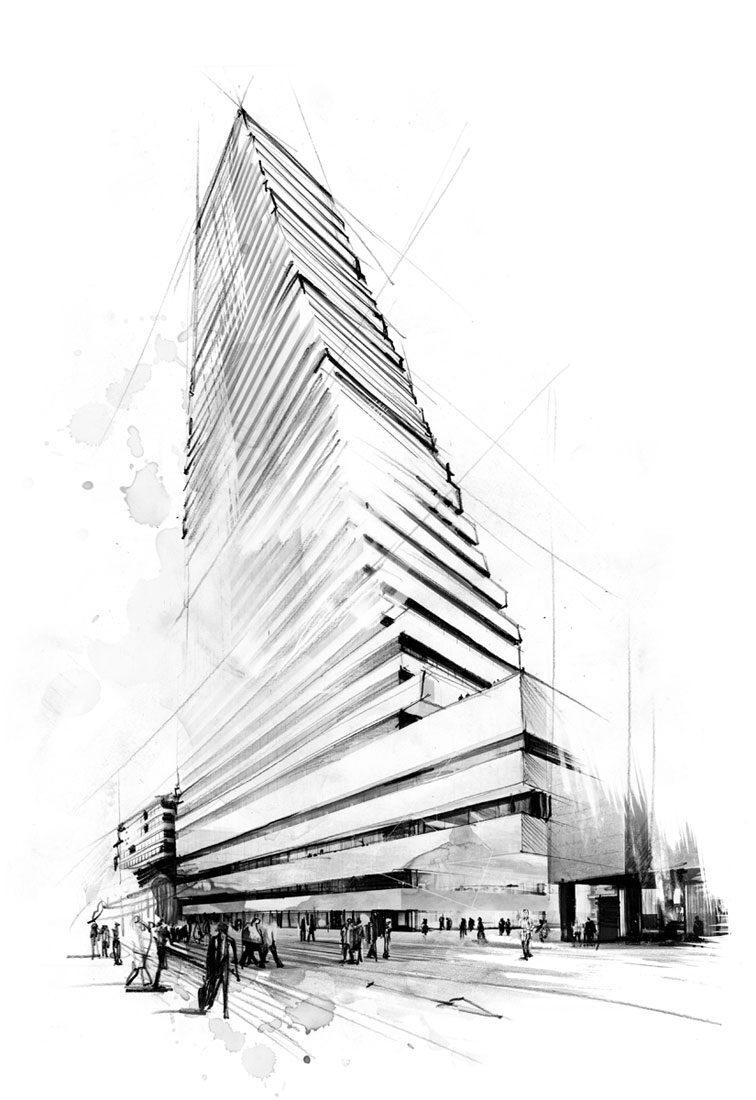 Roche Tower - Kornel Illustration | Kornel Stadler portfolio