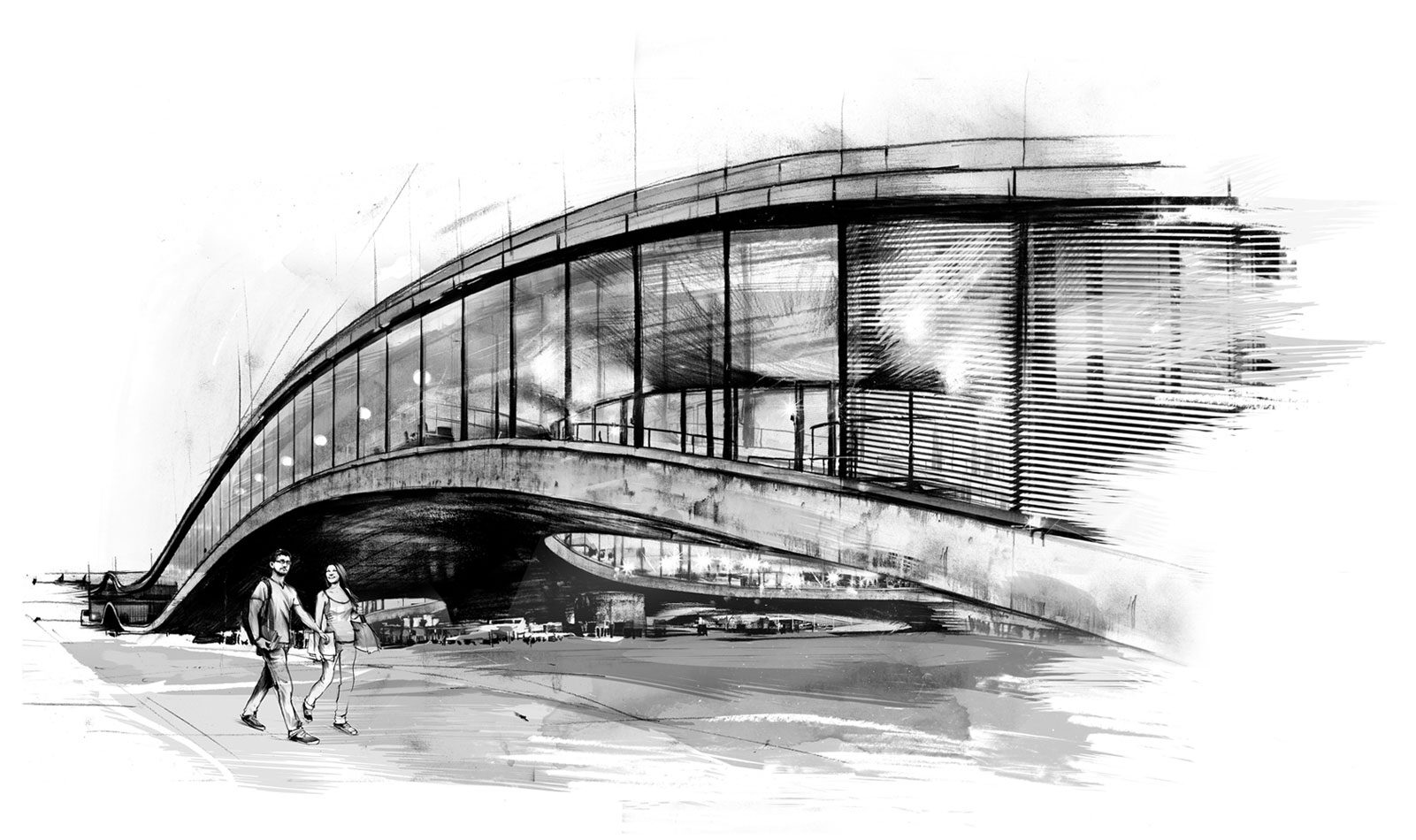 Rolex Center - Kornel Illustration | Kornel Stadler portfolio