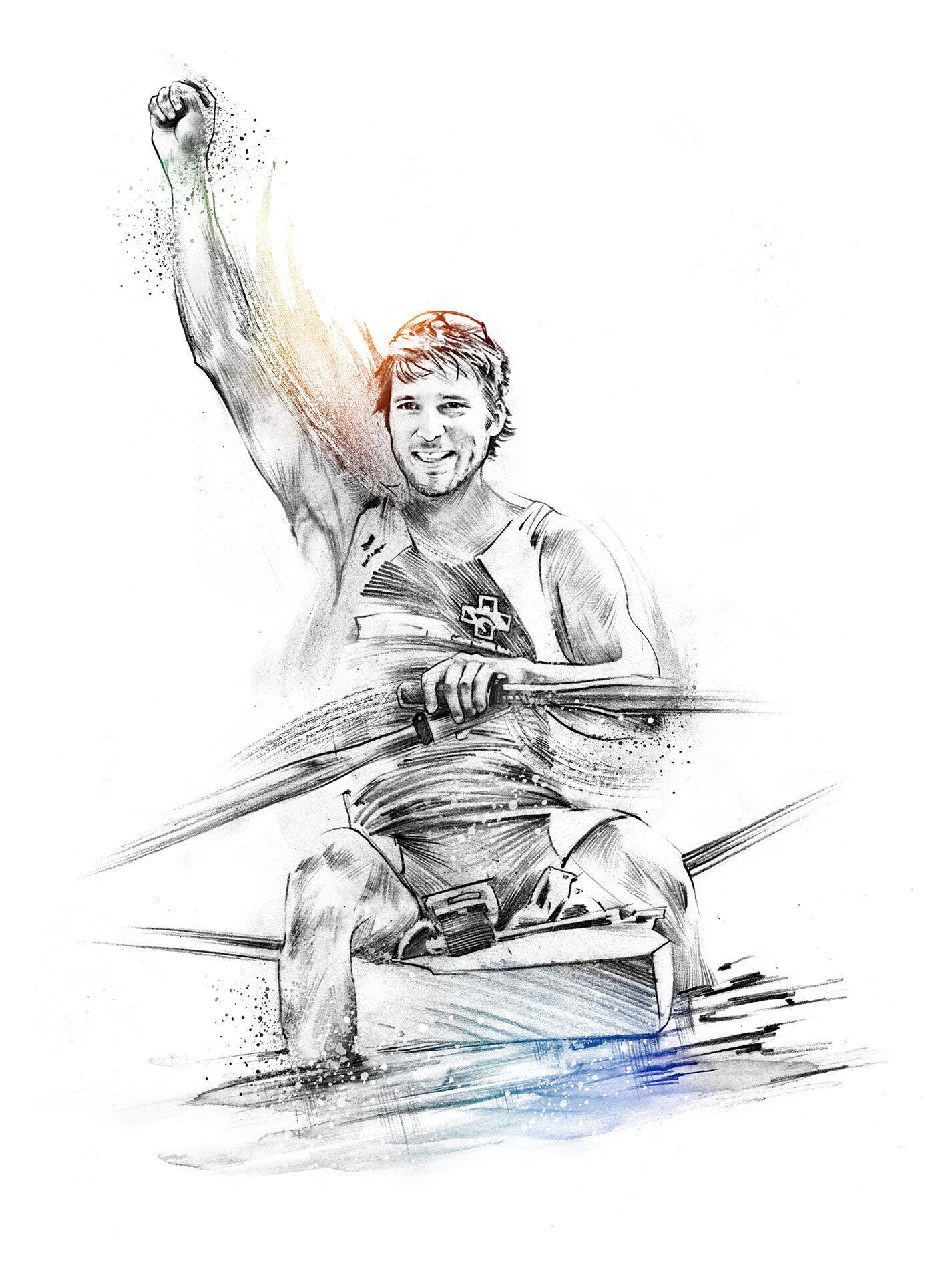 Rudern illustration - Kornel Illustration | Kornel Stadler portfolio