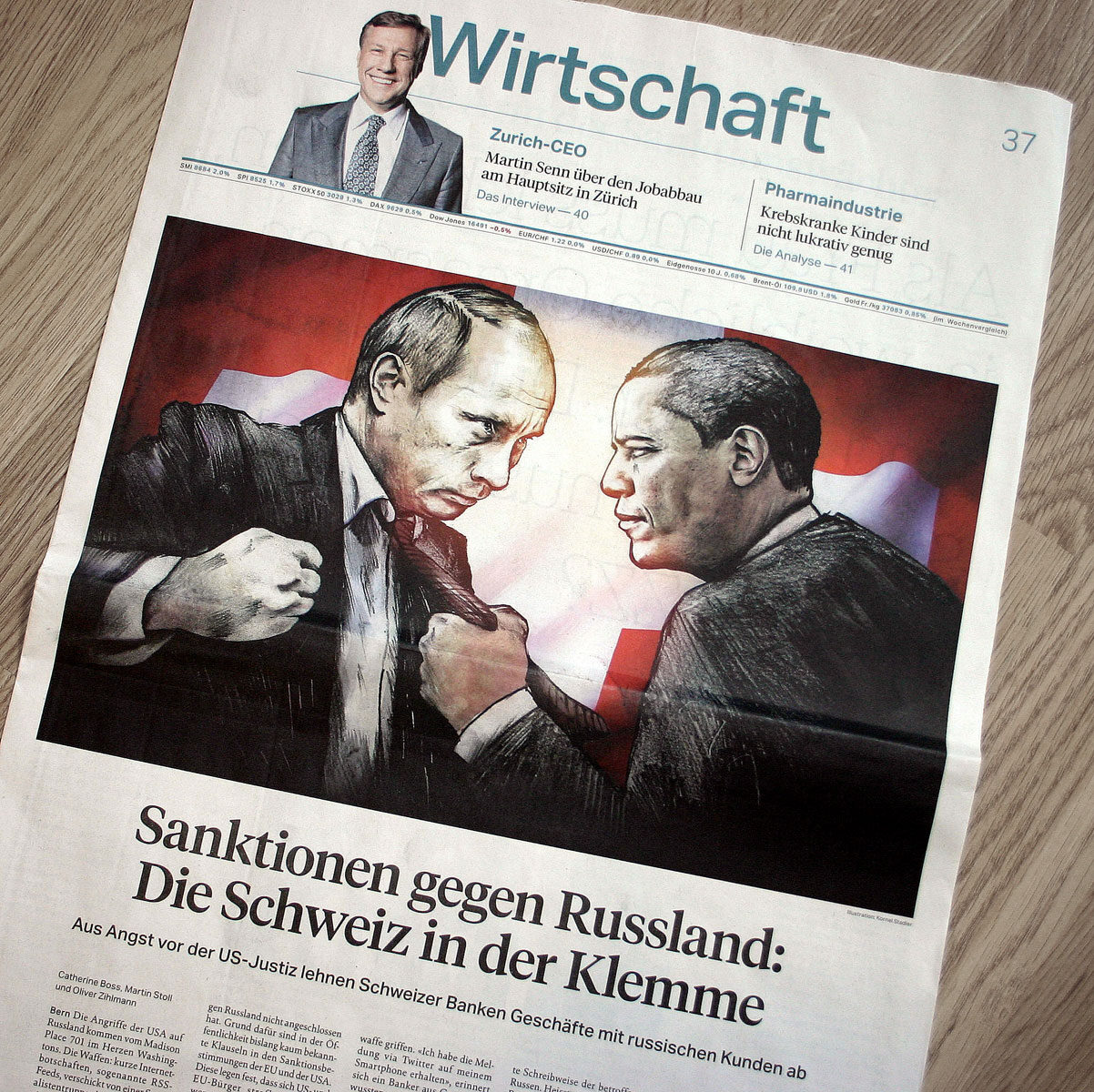 Foto Zeitung1 - Kornel Illustration | Kornel Stadler portfolio