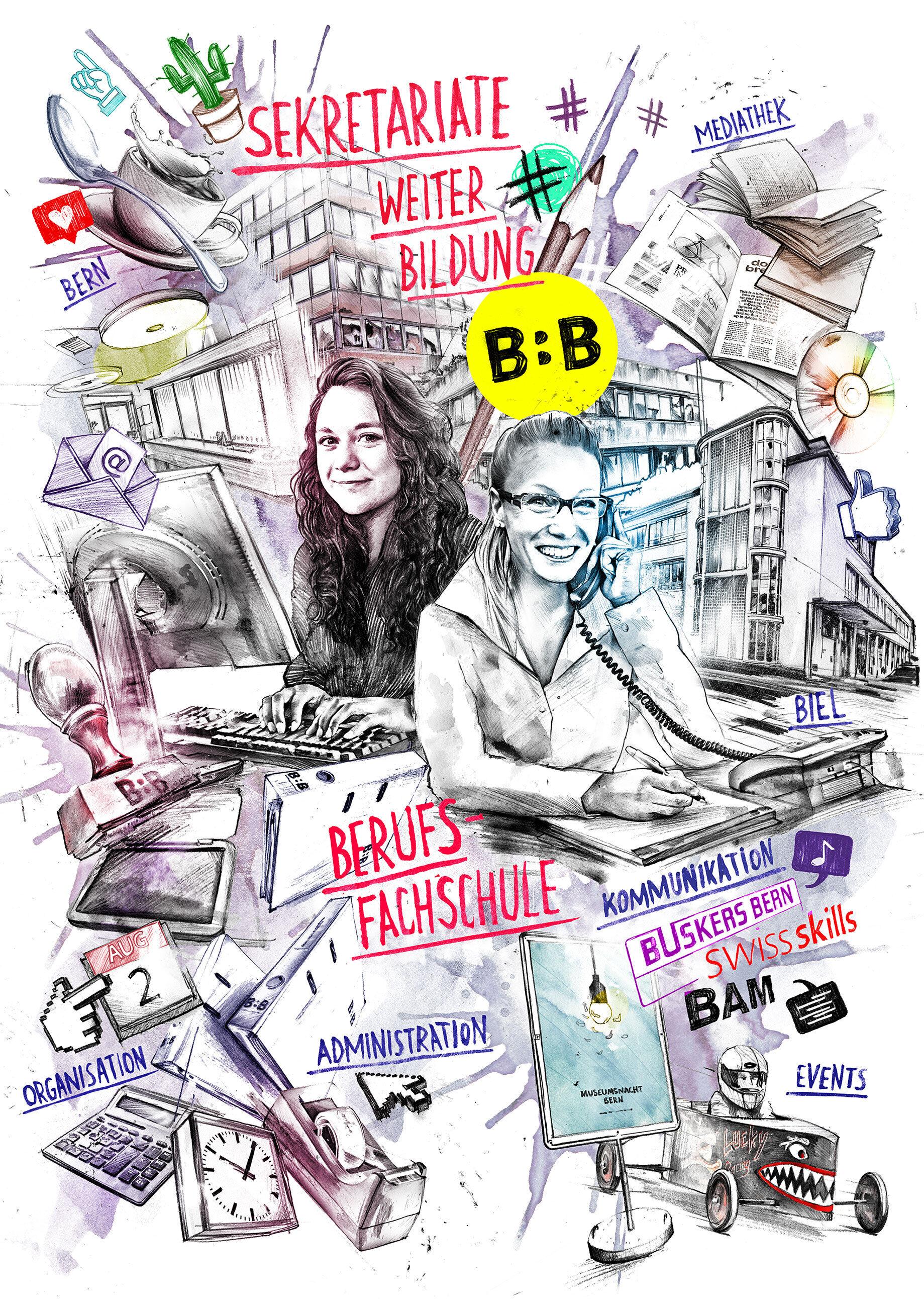 Schulsekretariate SFGB B Plakat - Kornel Illustration | Kornel Stadler portfolio