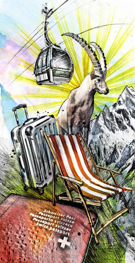 Ferien Schweiz - Kornel Illustration | Kornel Stadler portfolio