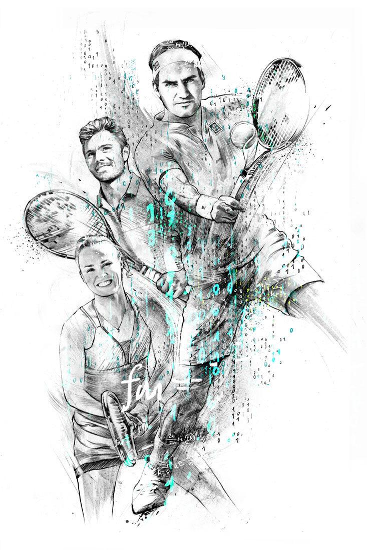 Tennis - Kornel Illustration | Kornel Stadler portfolio