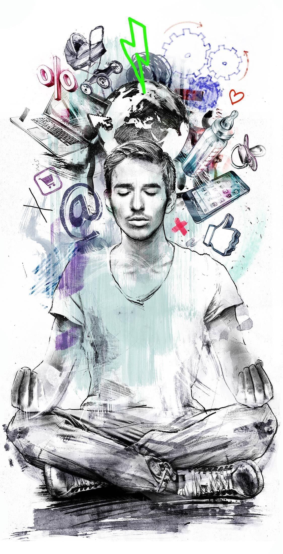 Stress youth editorial illustration - Kornel Illustration | Kornel Stadler portfolio