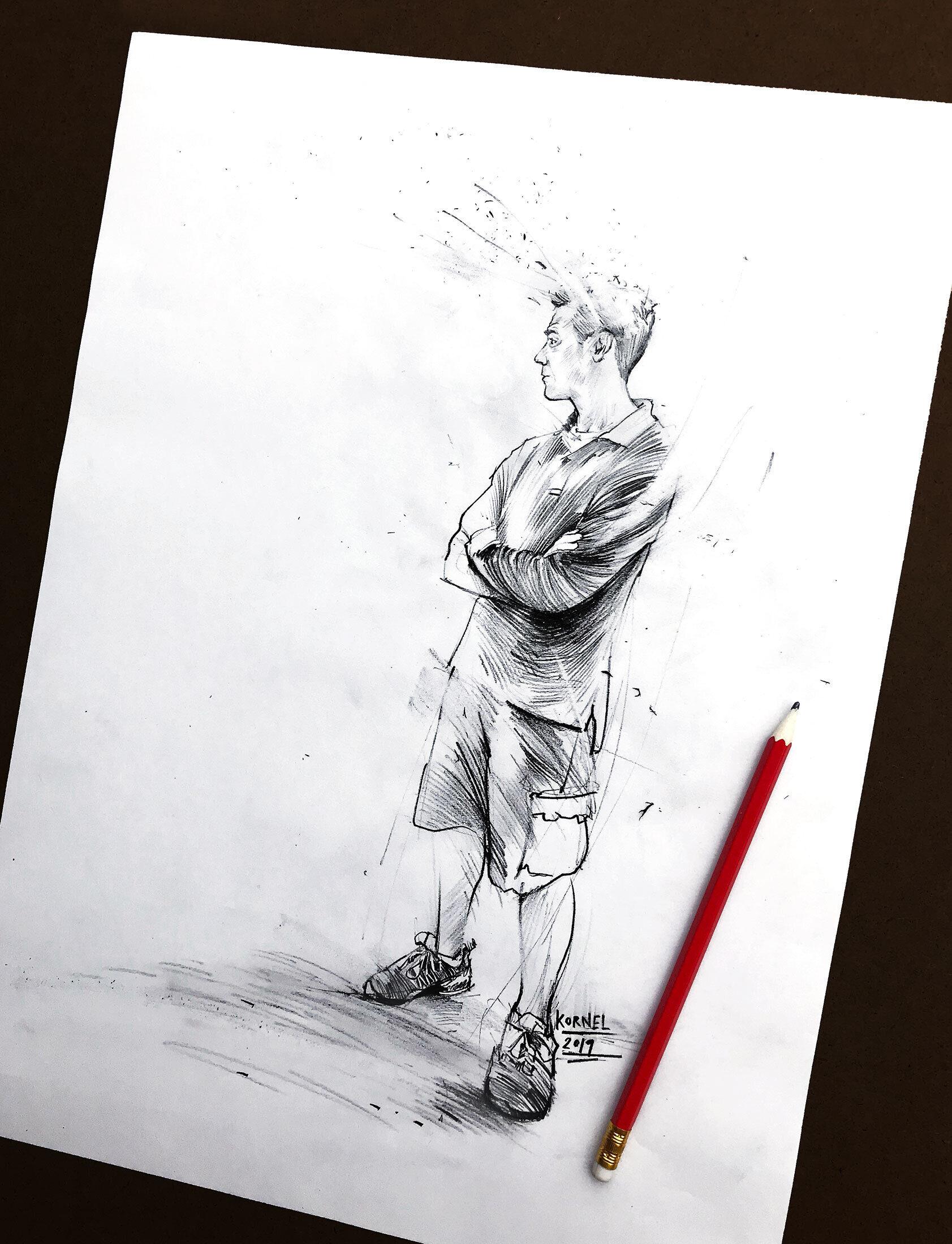 Pencil drawing sketch - Kornel Illustration | Kornel Stadler portfolio