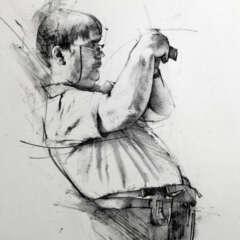 Work Sketch pencil photographer Kornel Illustration | Kornel Stadler