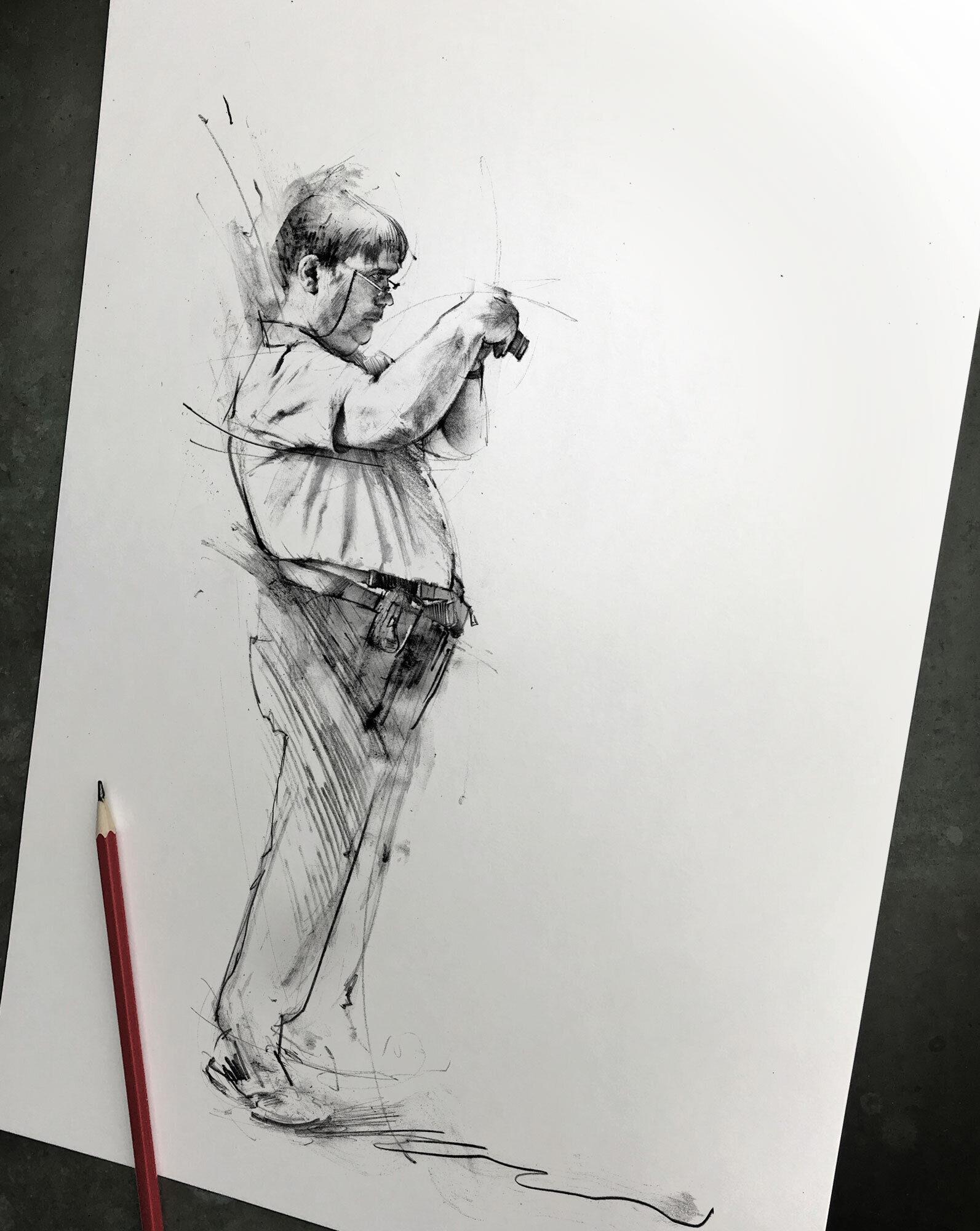 Sketch pencil photographer - Kornel Illustration | Kornel Stadler portfolio