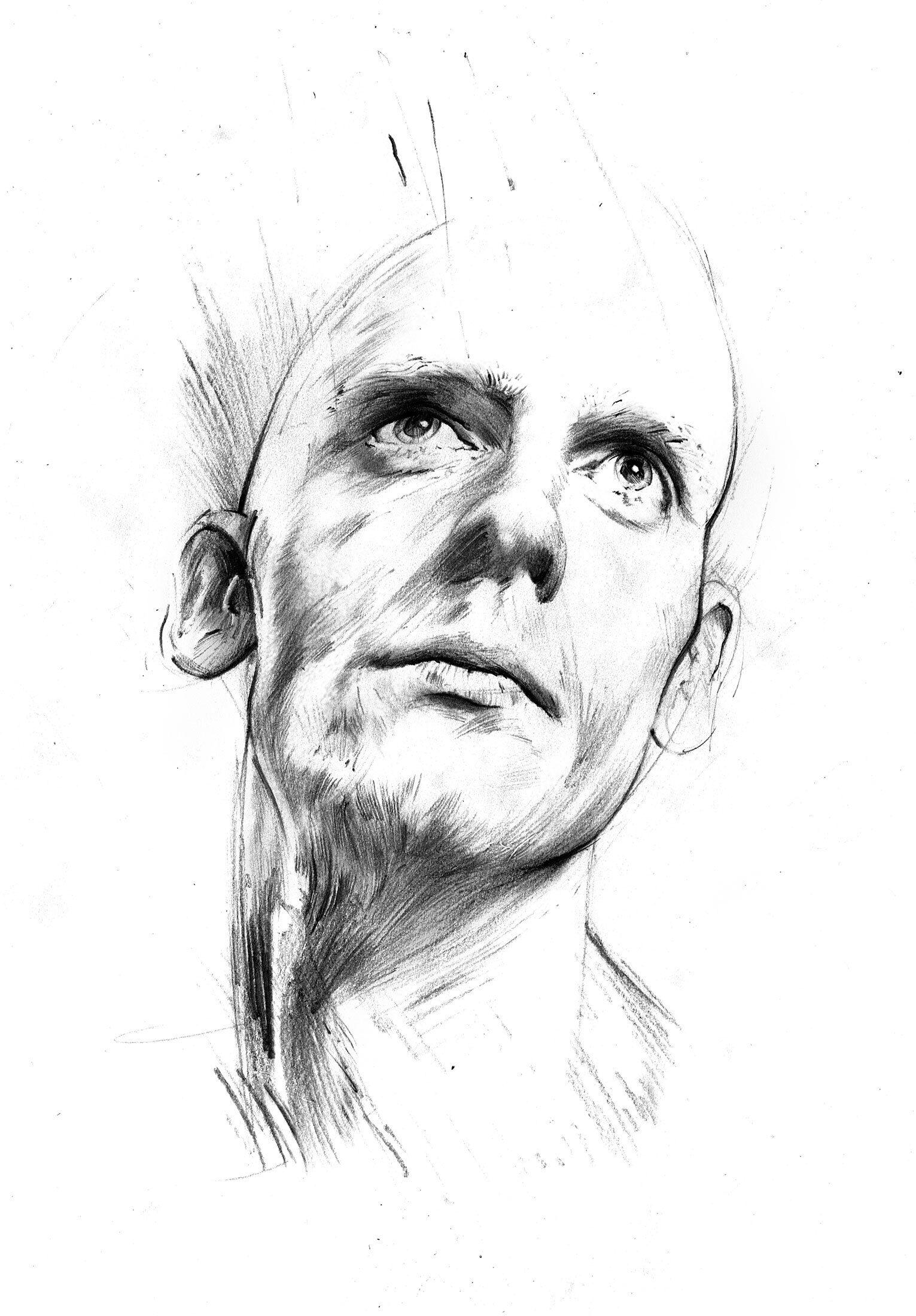 Sktech head - Kornel Illustration | Kornel Stadler portfolio