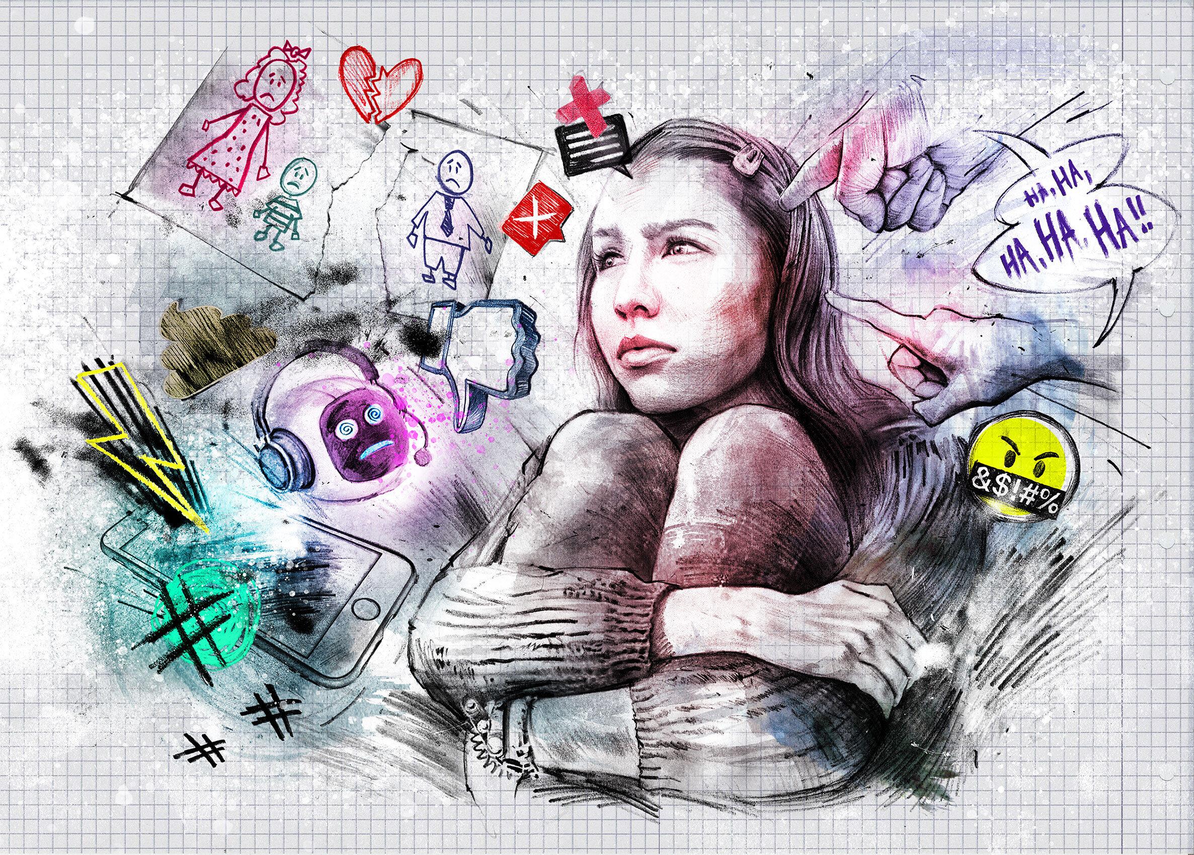 Mobbing illustration - Kornel Illustration | Kornel Stadler portfolio