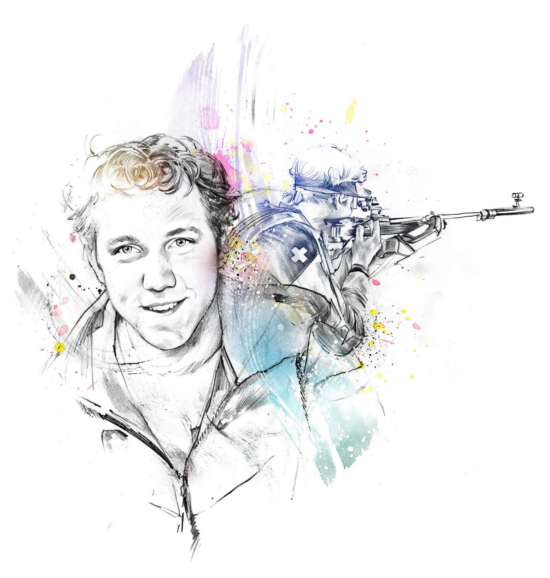 Sportschiessen portrait illustration - Kornel Illustration | Kornel Stadler portfolio