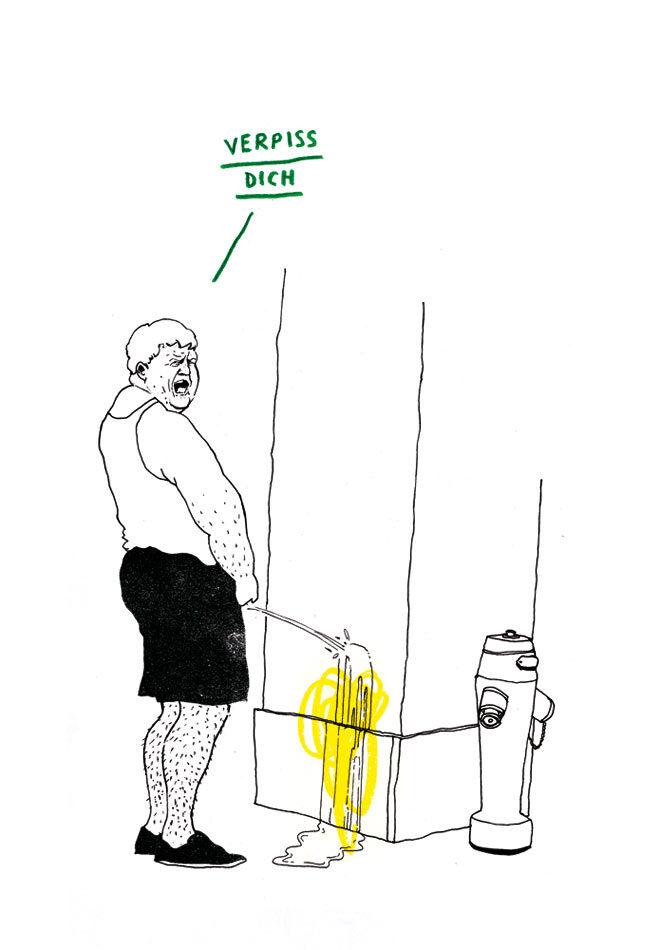 Verpiss dich - Kornel Illustration | Kornel Stadler portfolio