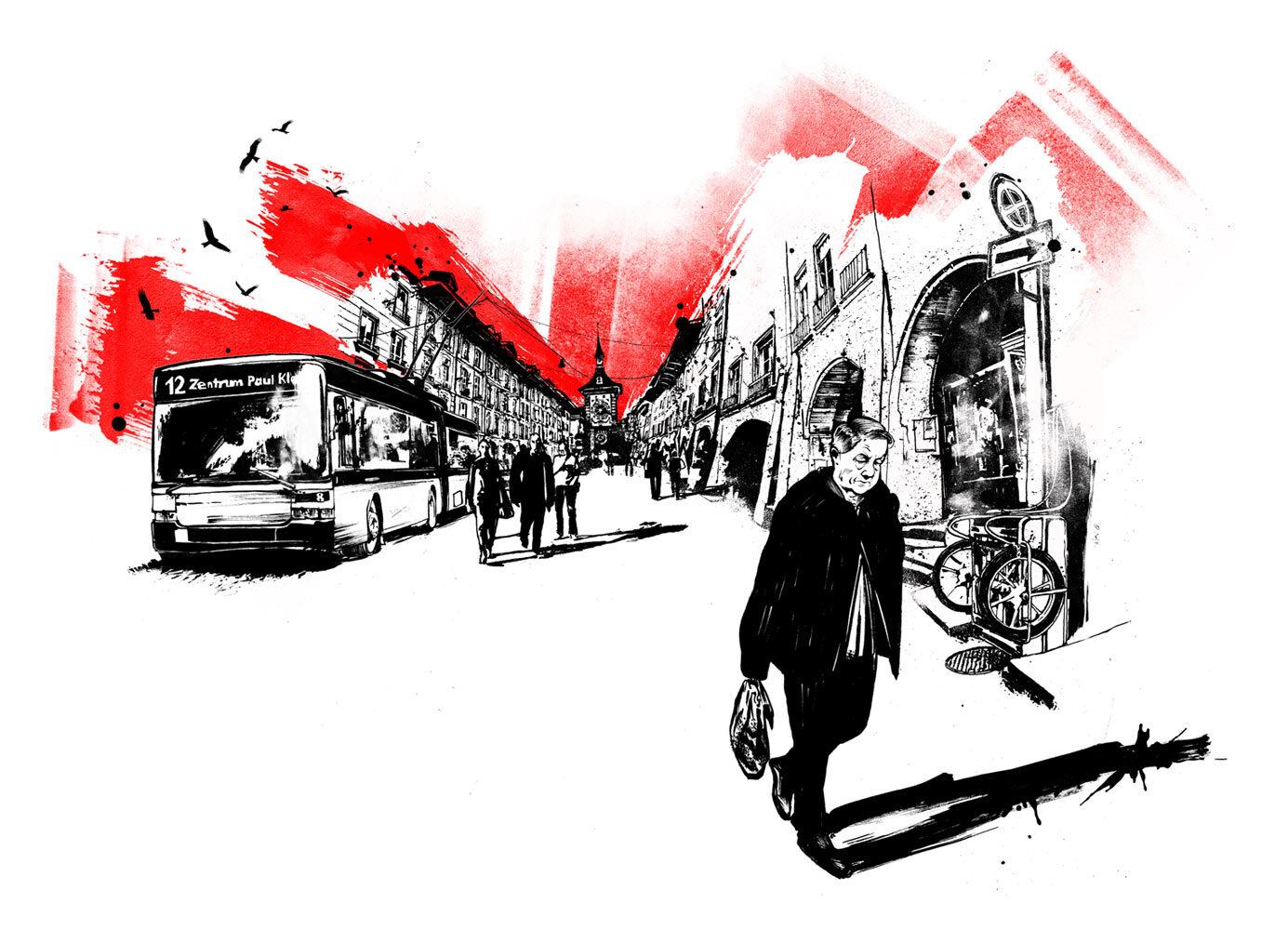 Galiano Stadtleben - Kornel Illustration | Kornel Stadler portfolio