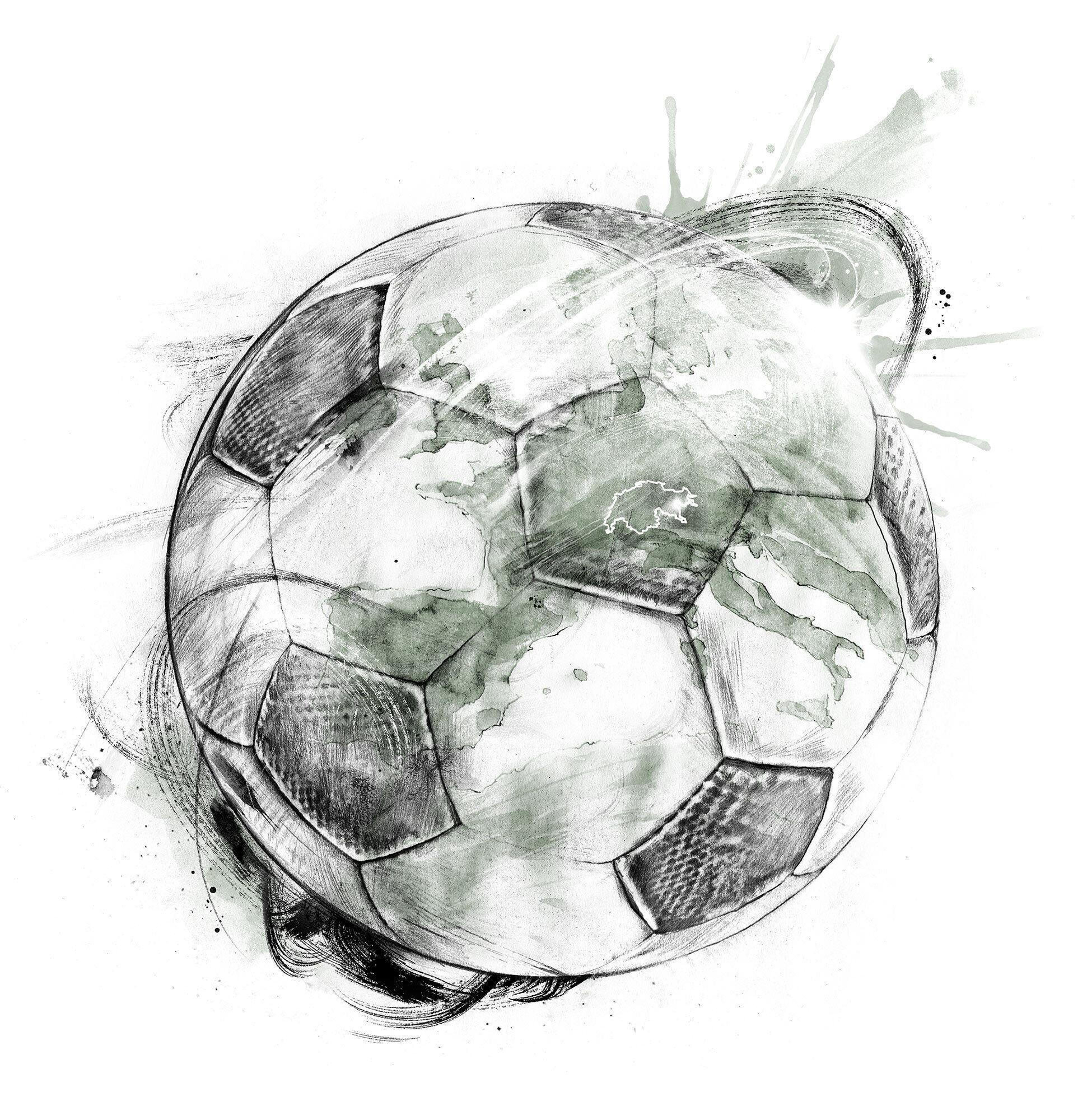 Fussball europa schweiz sfl artwprk cover - Kornel Illustration | Kornel Stadler portfolio